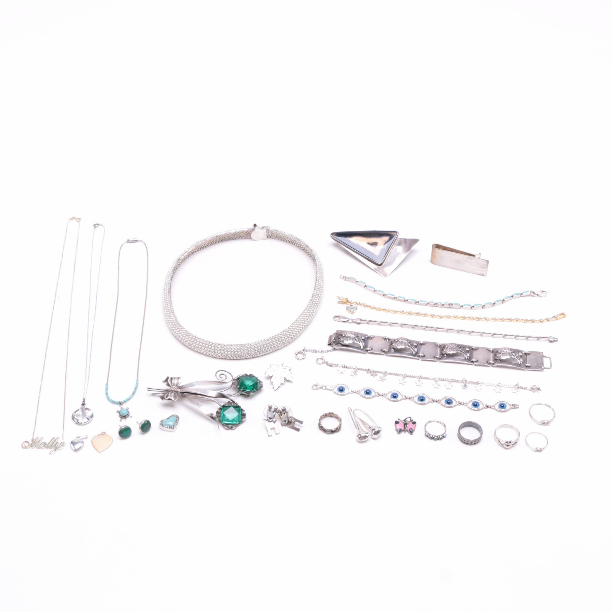 Assorted Sterling Silver Jewelry Including Sucherman