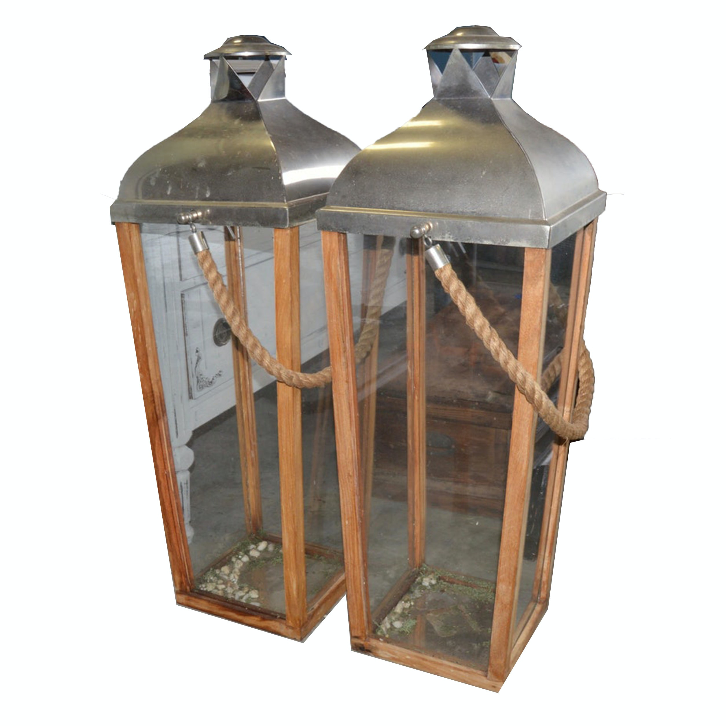 Tall Outdoor Hurricane Lanterns