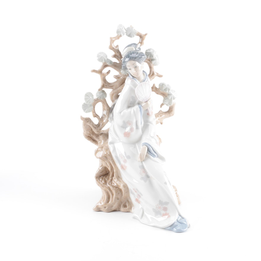 Lladr geisha figurine ebth - Consider including lladro porcelain figurines home decoration ...