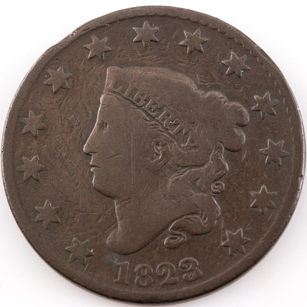 1823 Coronet Head Large Cent