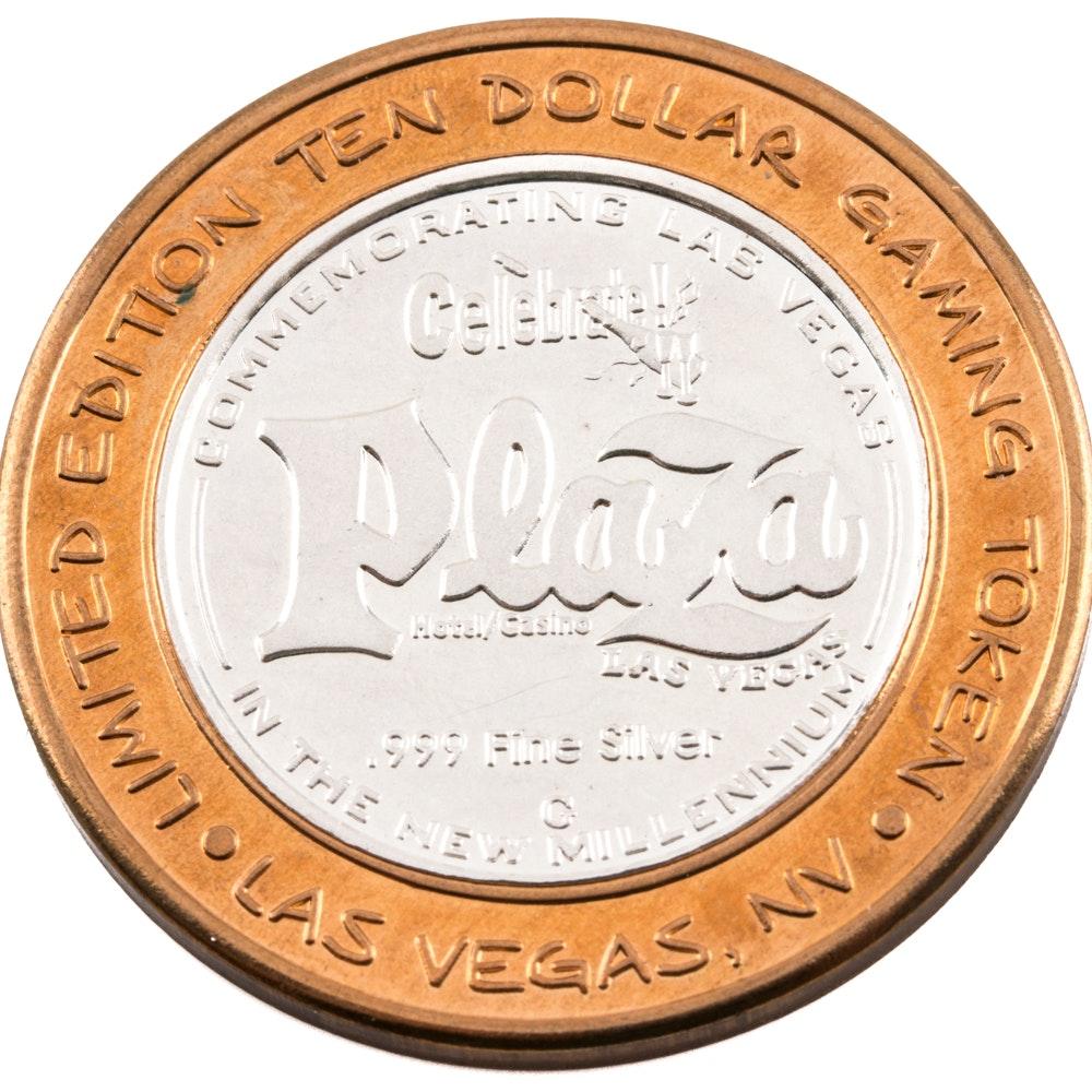 2000 Limited Edition Plaza Casino Ten Dollar Gaming Token