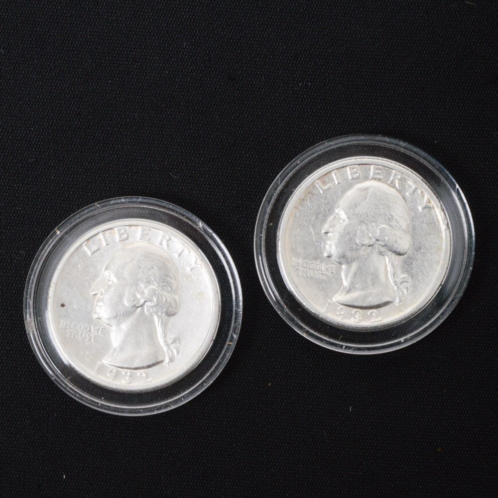 1932 D and 1932 S Washington Quarters