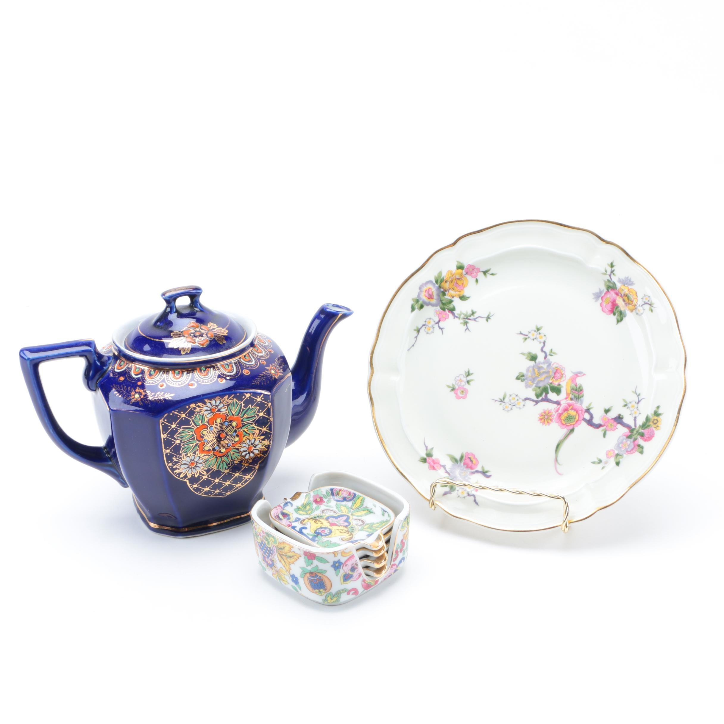 Japanese Floral Dishes