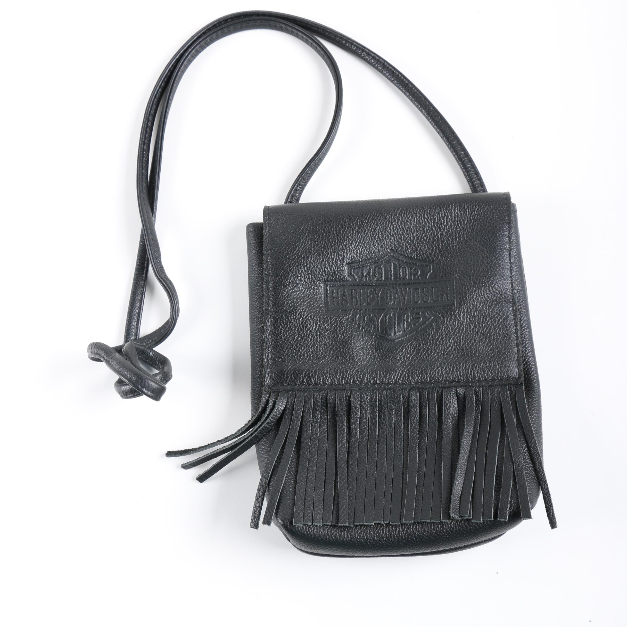 Harley-Davidson Black Leather Cross-body Bag