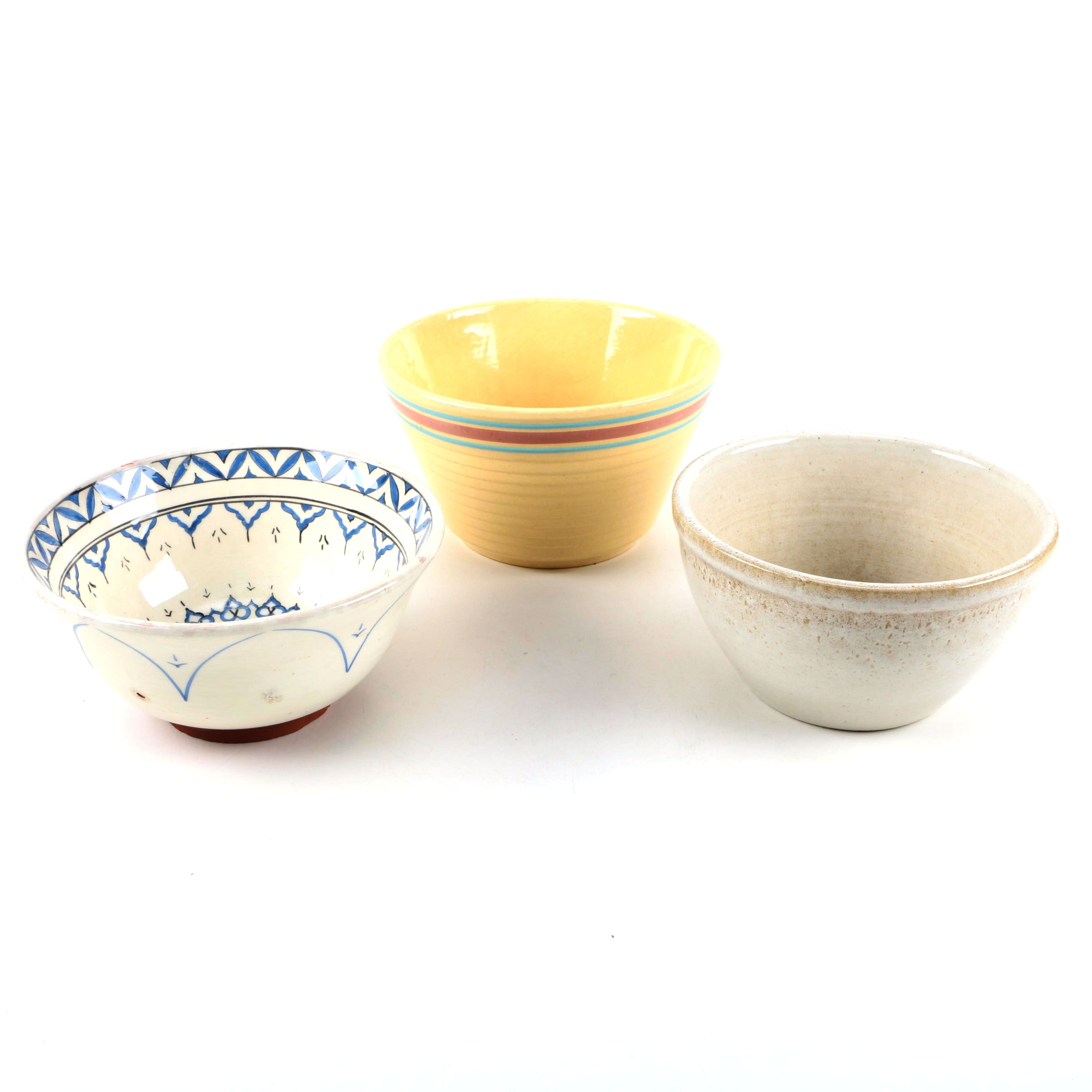 Stoneware Bowls Featuring Watt Pottery