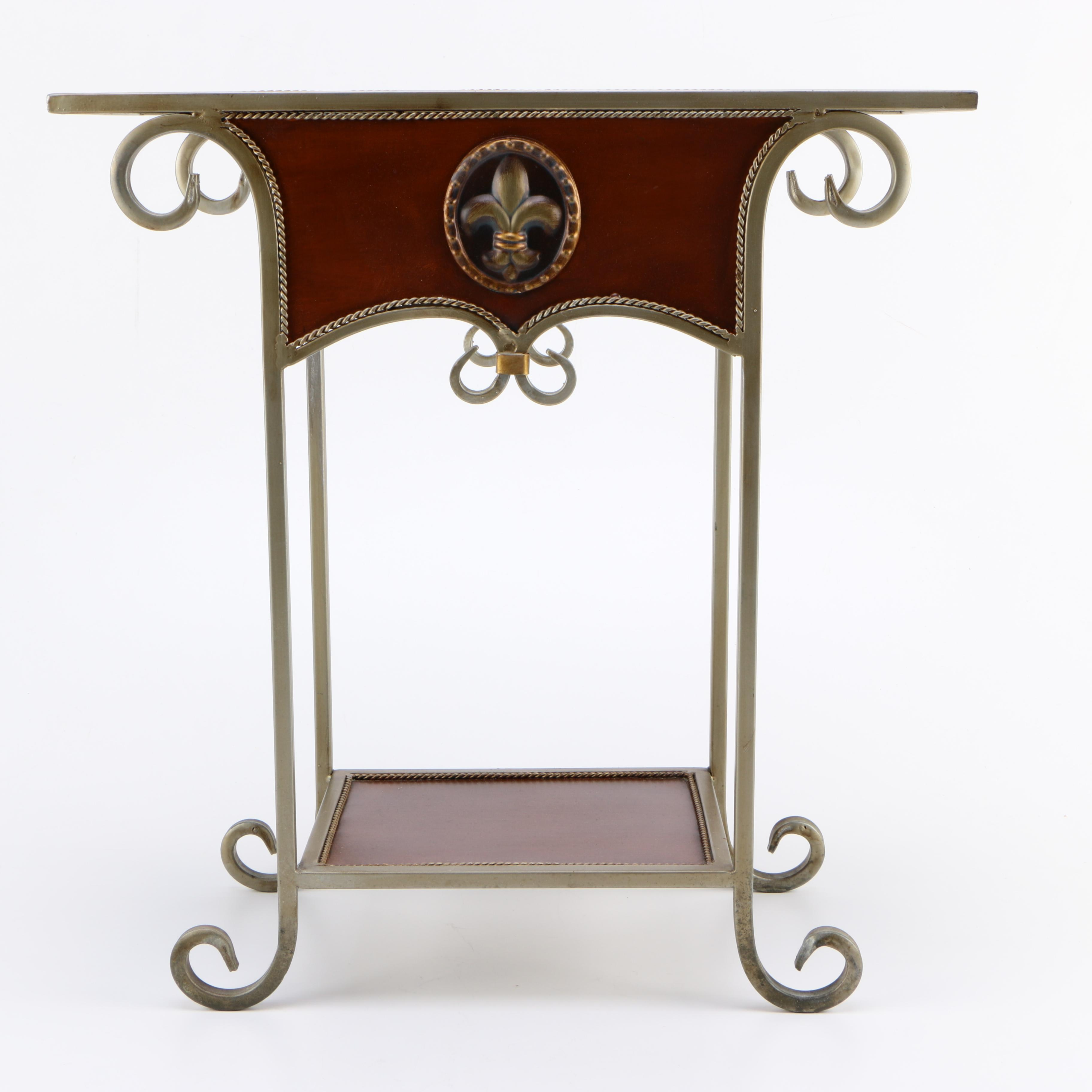 Regency Inspired Metal Side Table