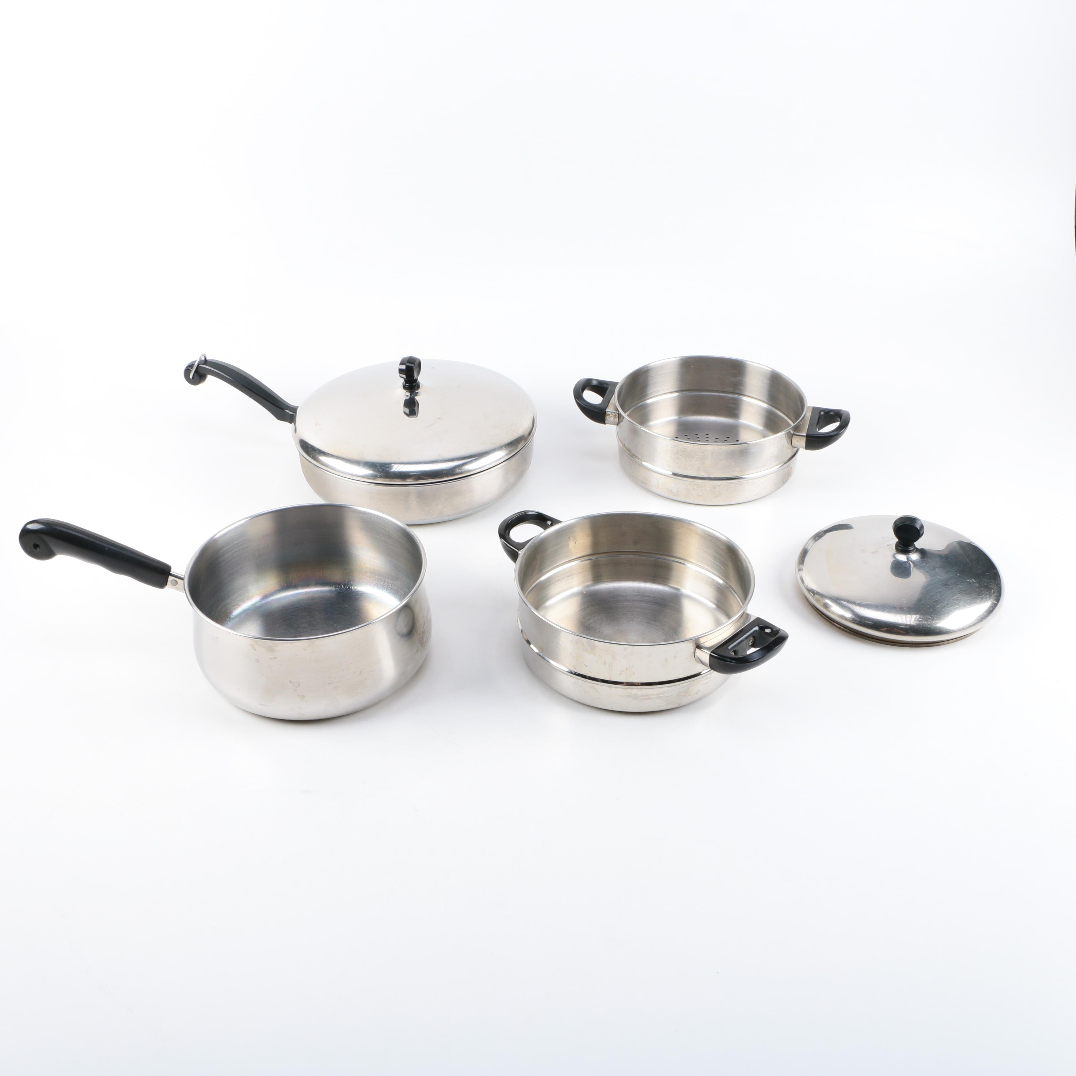 Stainless Steel Cookware Featuring Farberware and K.D Gourmet