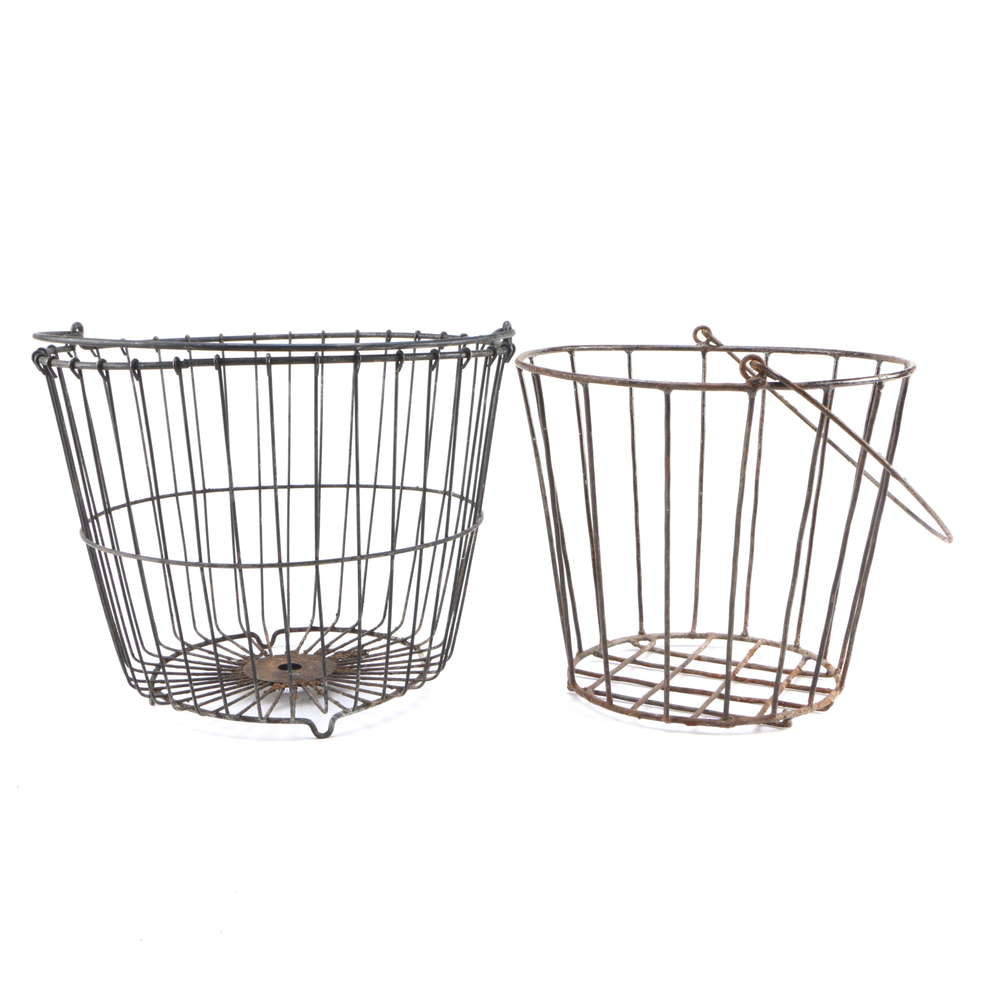 Vintage Metal Apple Baskets