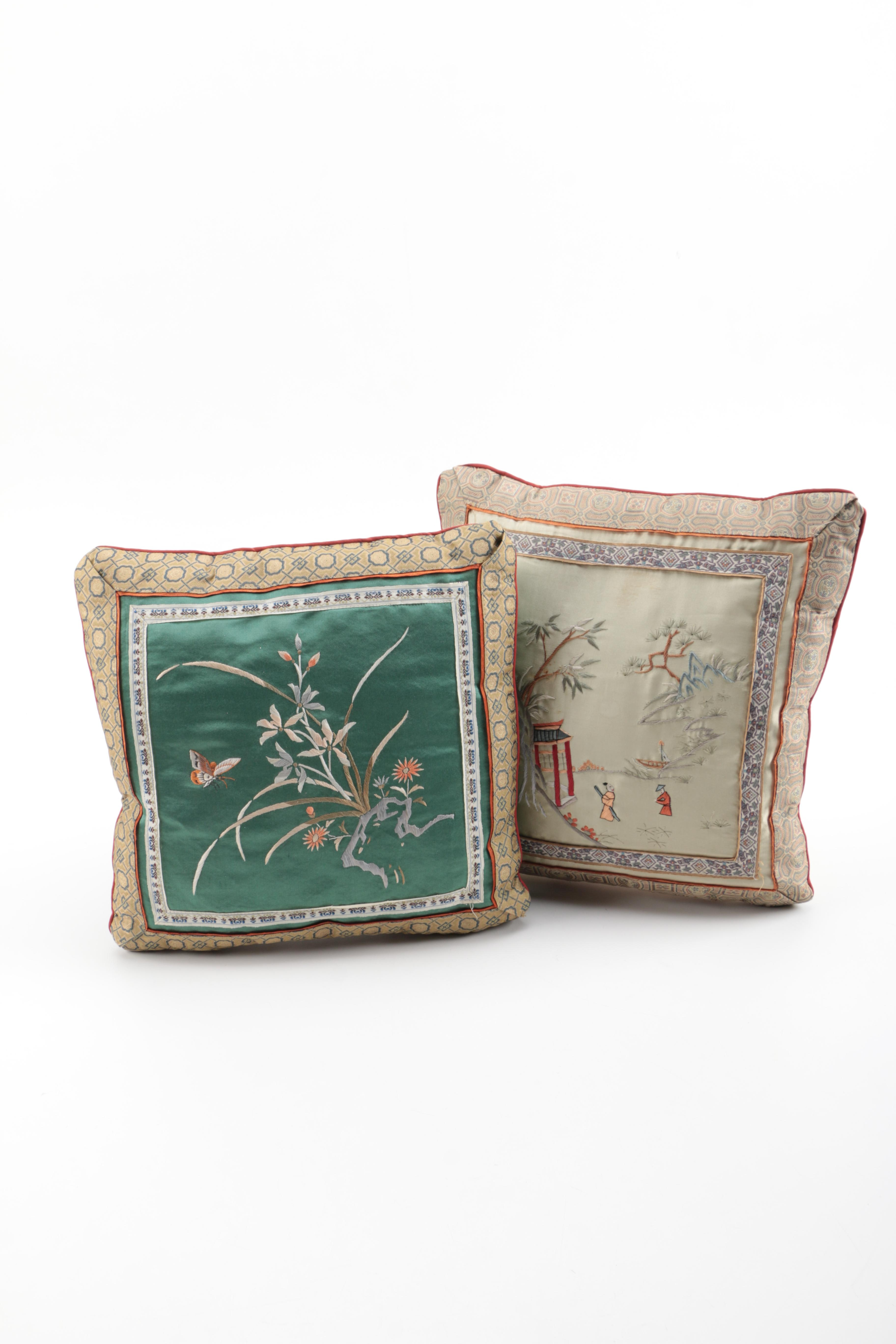 Chinese Embroidered Throw Pillows