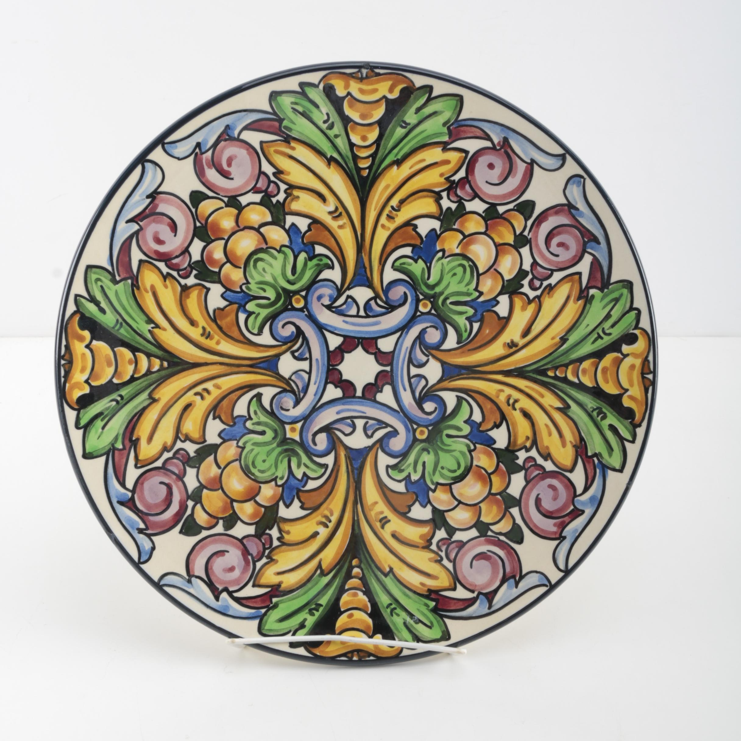 Hand-Painted Spanish Ceramic Charger