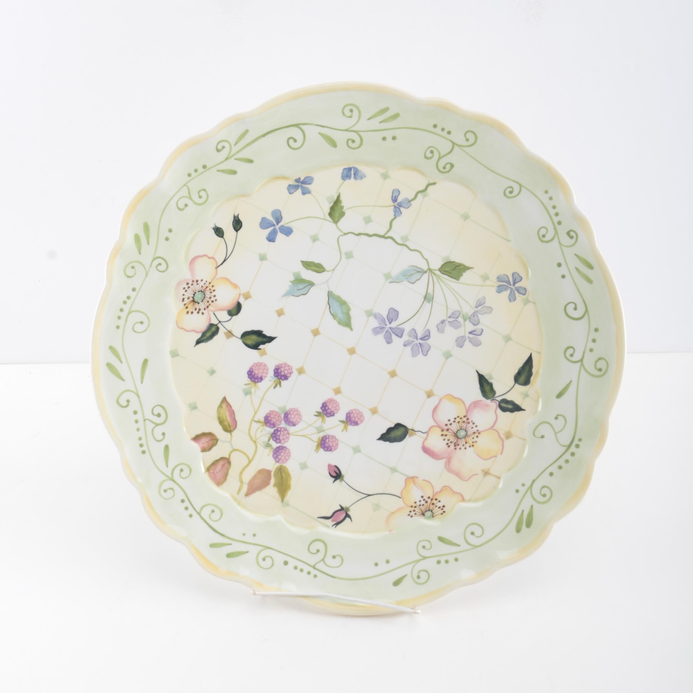 Hand-Painted Tracy Porter Ceramic Platter