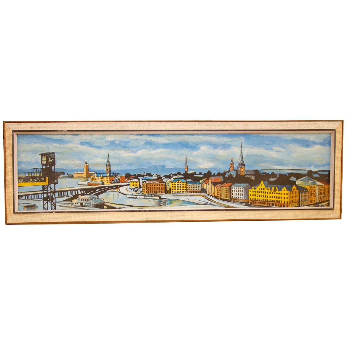 Acrylic on Canvas Coastal Painting