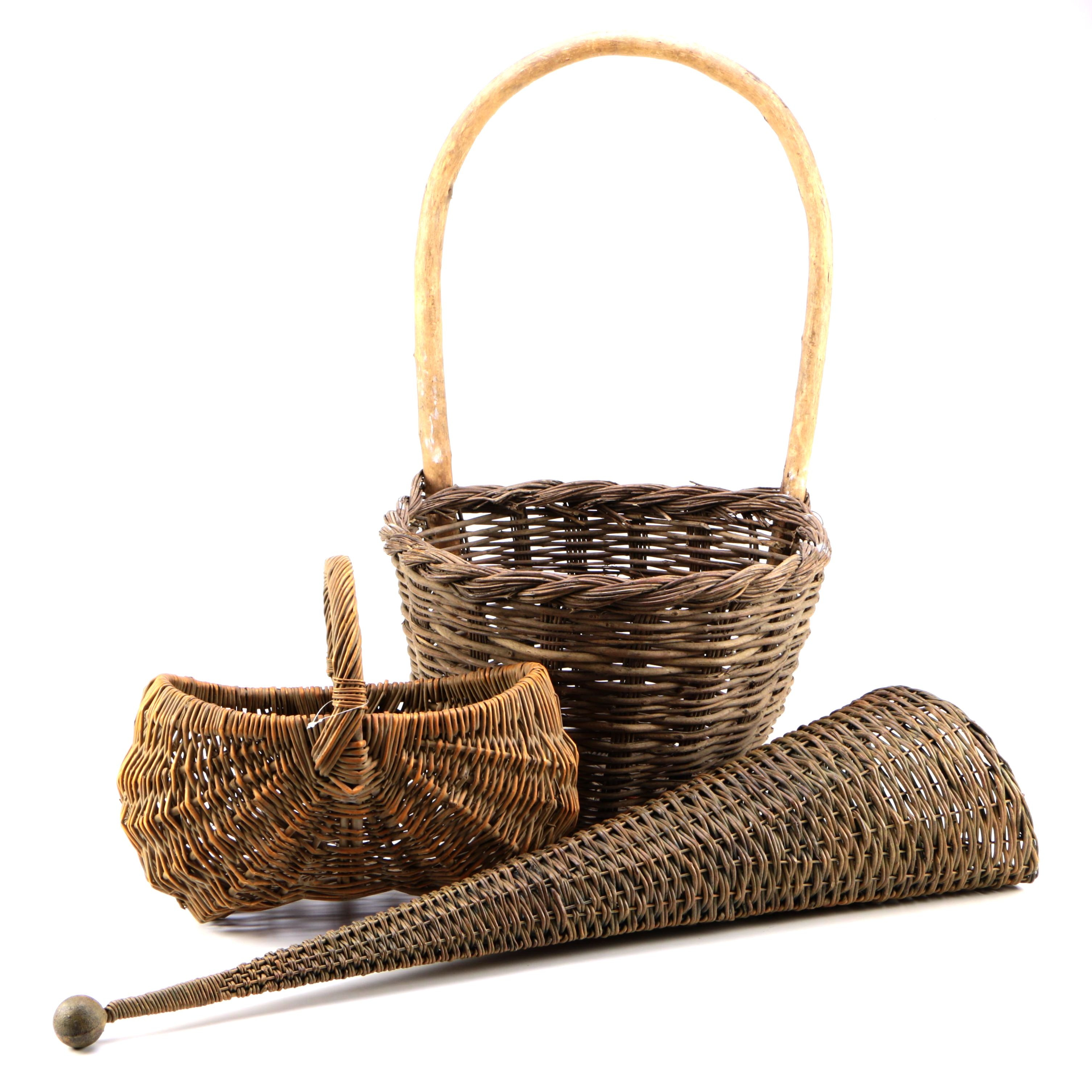 Trio of Vintage Baskets