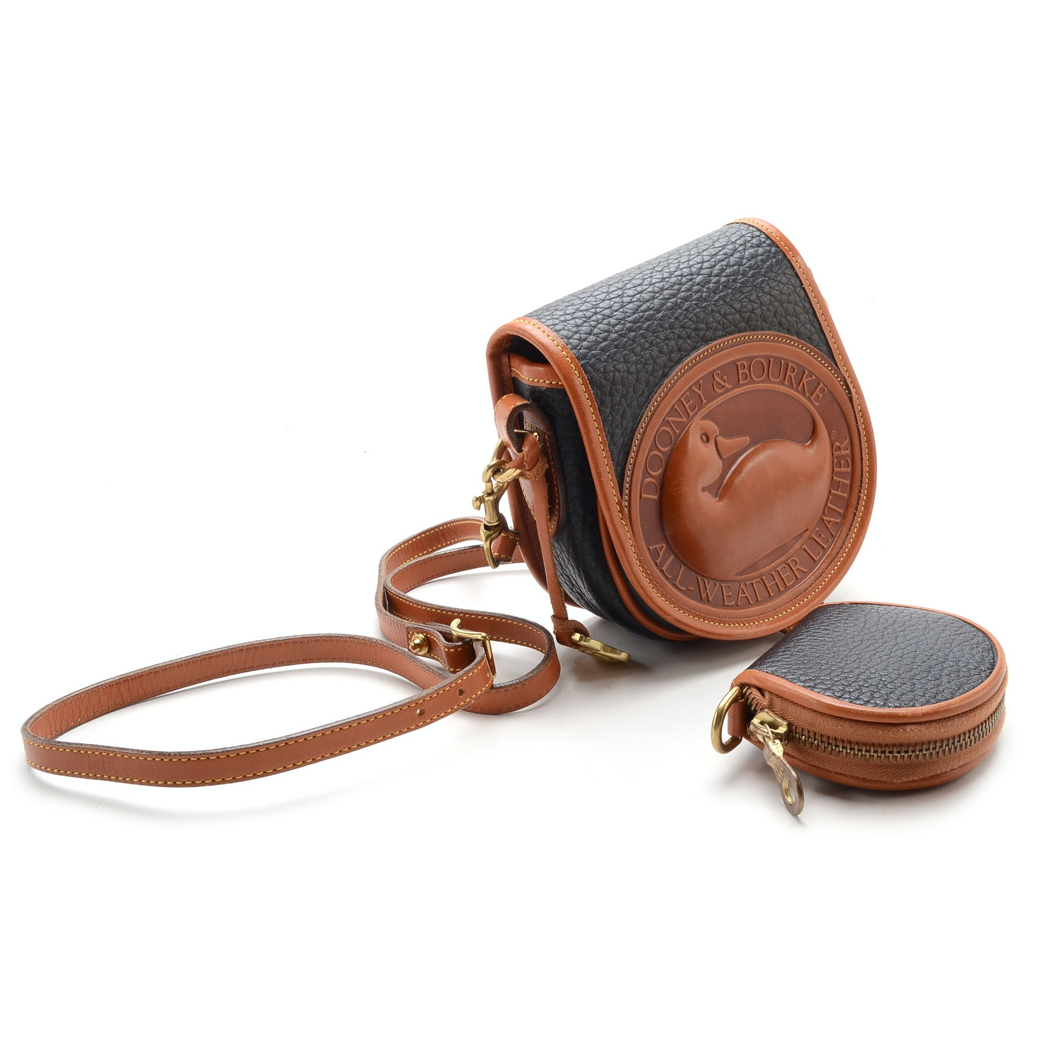 Vintage Dooney \u0026 Bourke Small Duck Crossbody Bag and Coin Purse