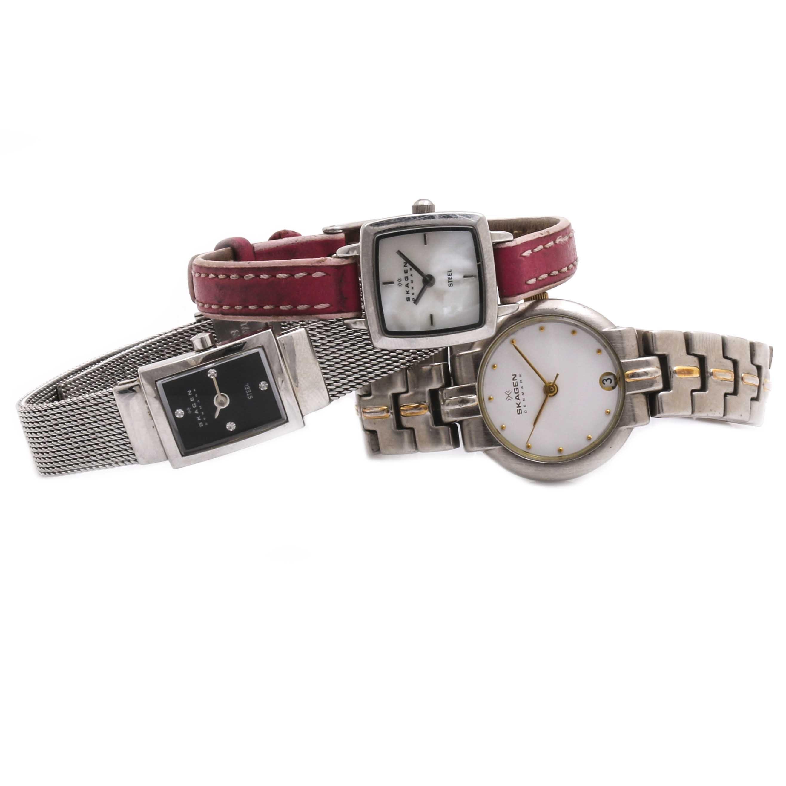 Selection of Skagen Denmark Wristwatches