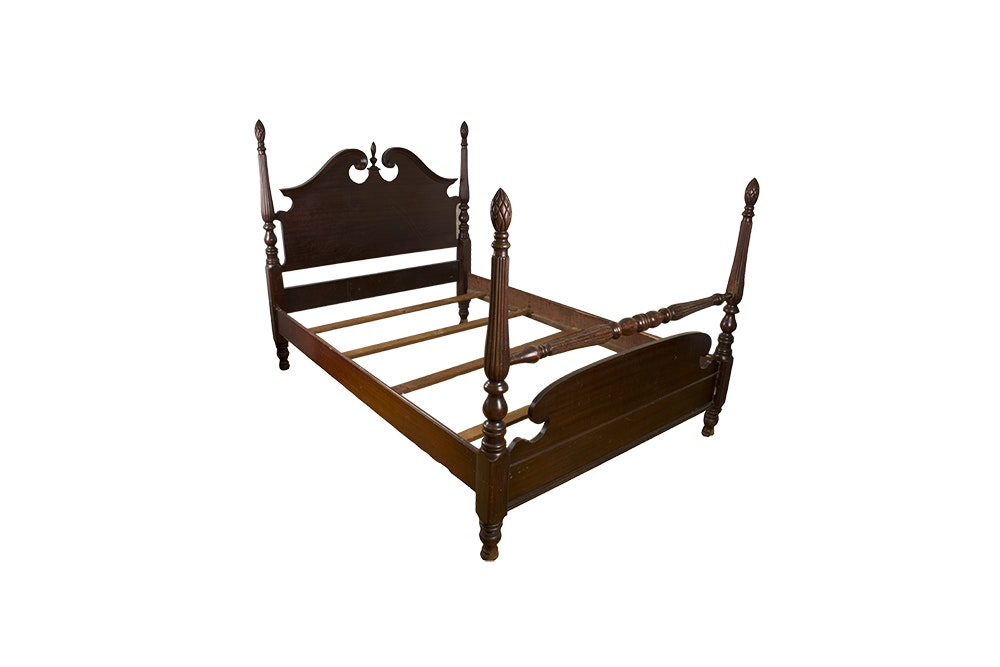 Federal Style Full Size Four Poster Bed