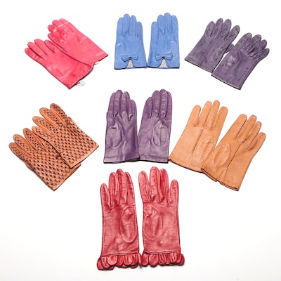 Leather Gloves Including Saks Fifth avenue