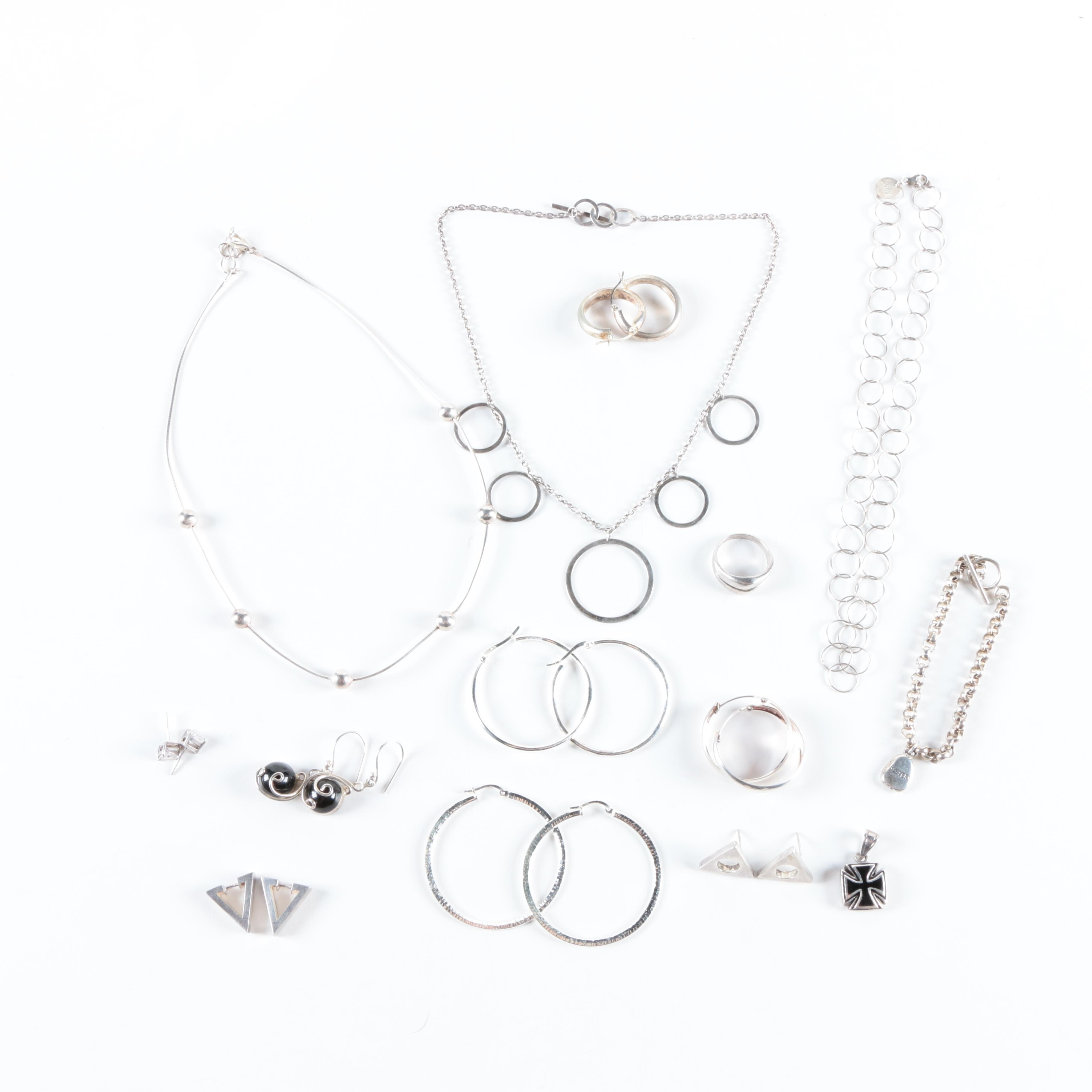 Geometric Sterling Silver Jewelry