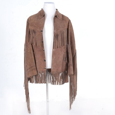 Suede Leather Fringed Jacket