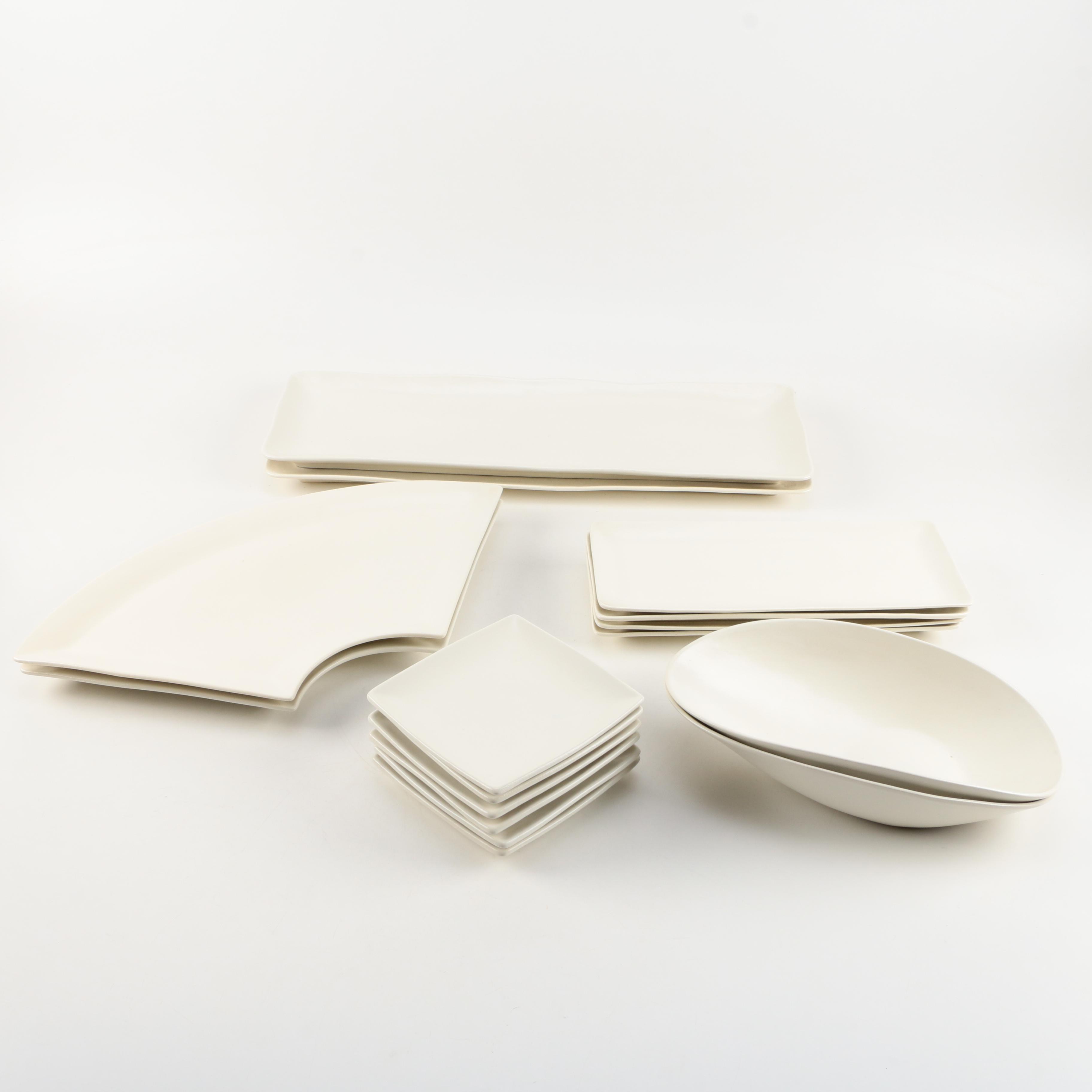 Modern White Ceramic Serveware
