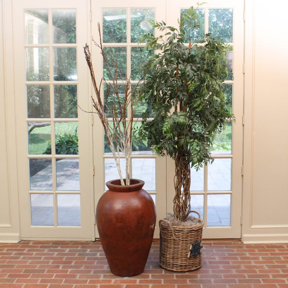 Decorative Vase with Branches and Faux Tree