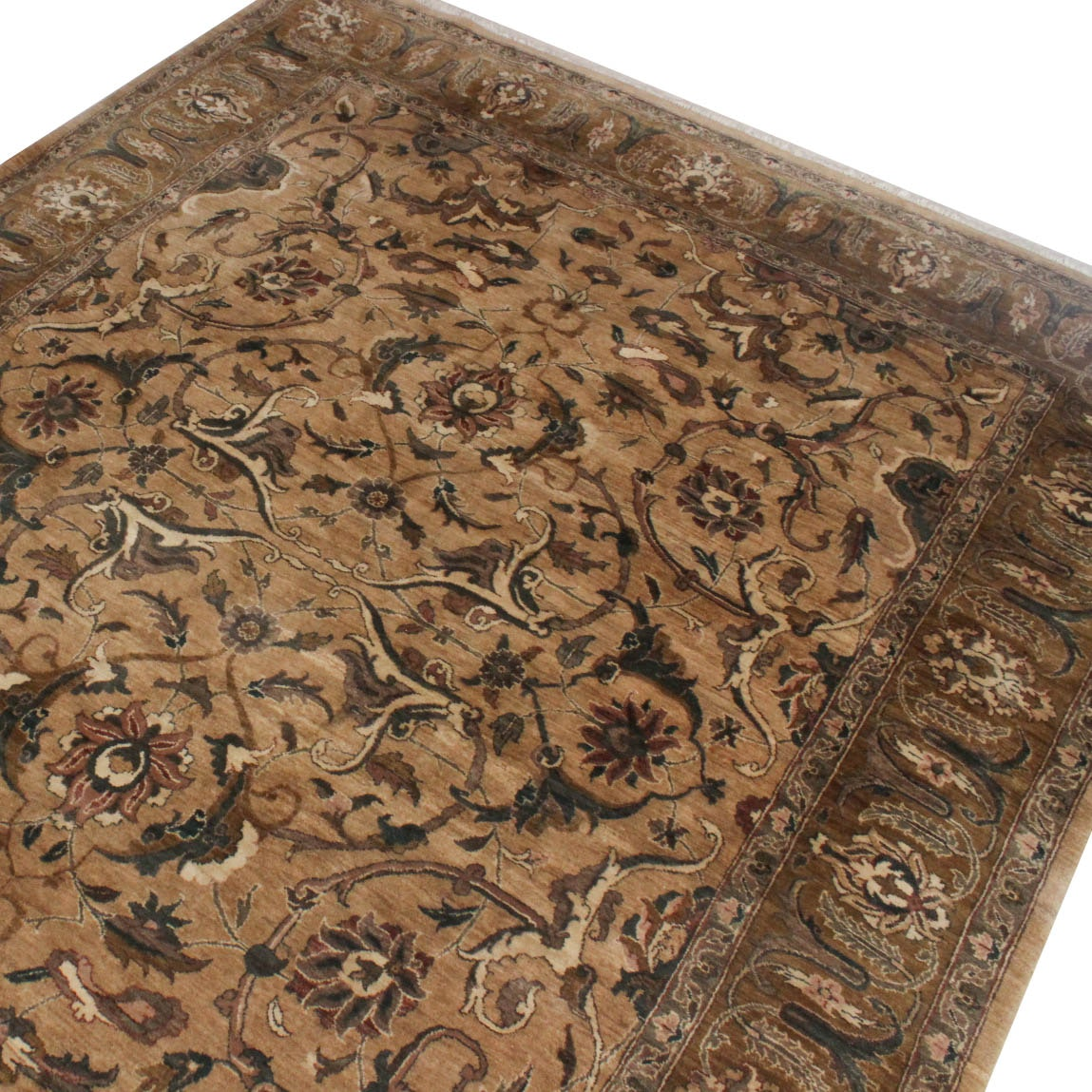 Hand-Knotted Indo-Persian Indian Kaimuri Room Size Rug