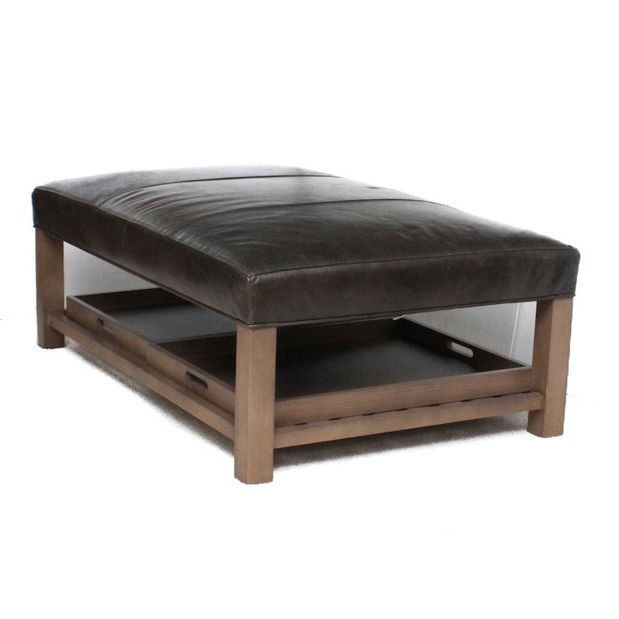 Fabulous Butler Smoke Leather Bench By Arhaus Ibusinesslaw Wood Chair Design Ideas Ibusinesslaworg