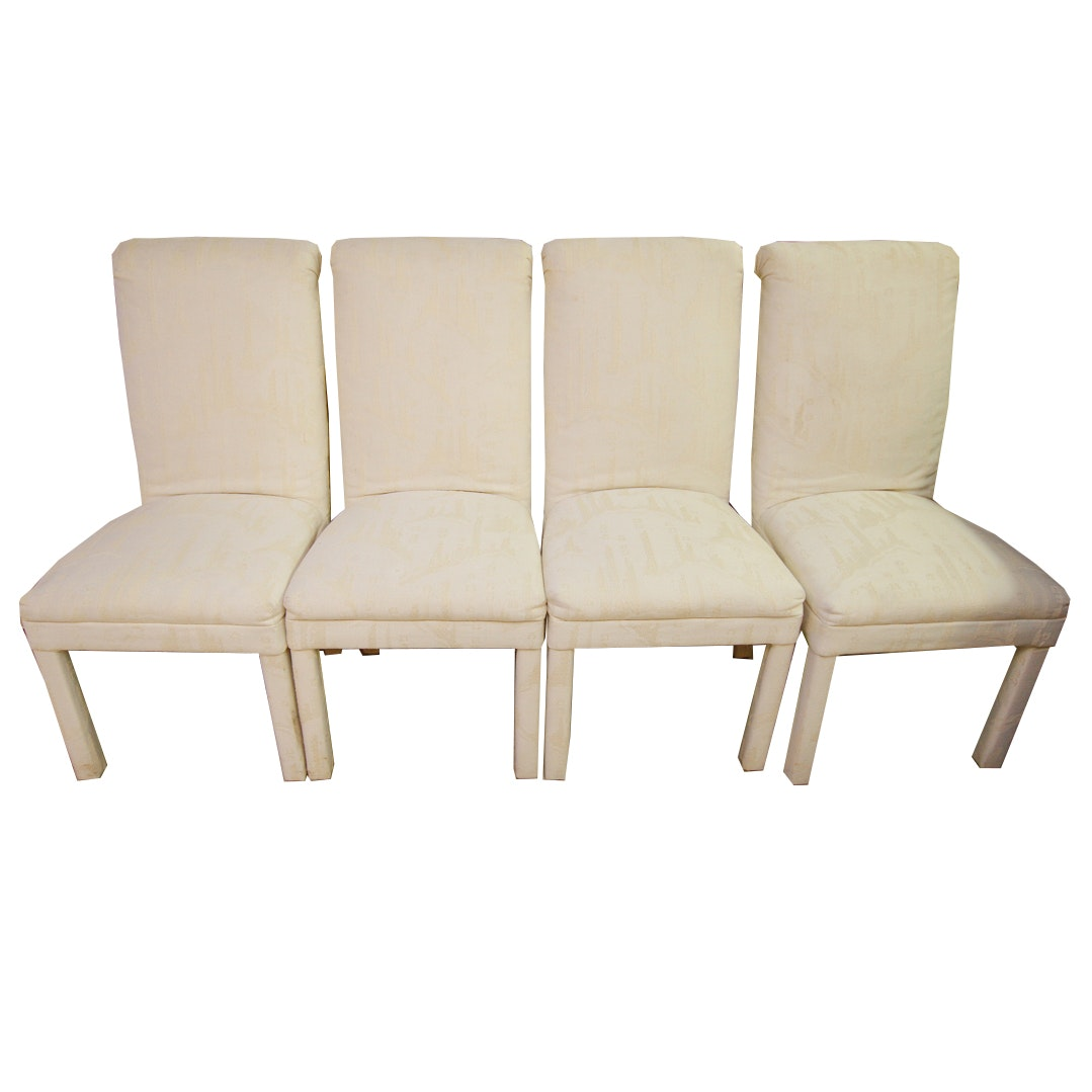 Four Cream Upholstered Chairs