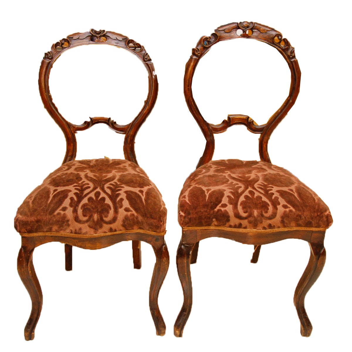 Pair of Vintage Victorian Style Chairs