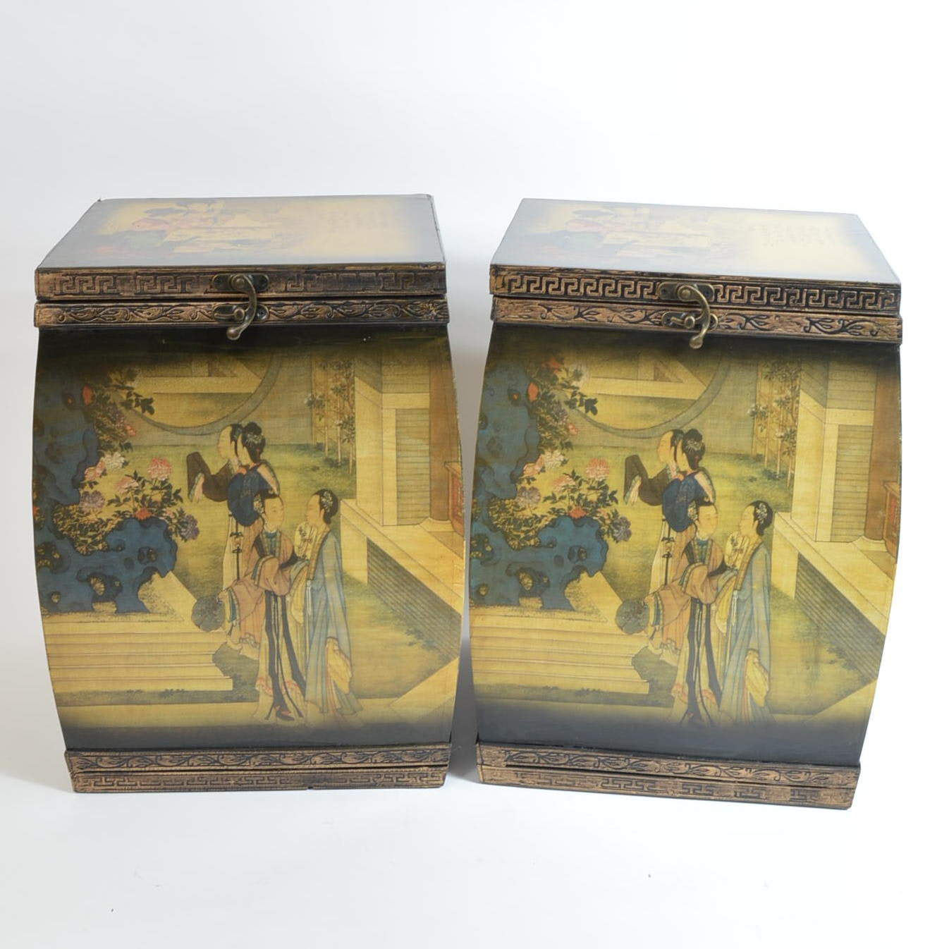 Chinese Inspired Storage Boxes