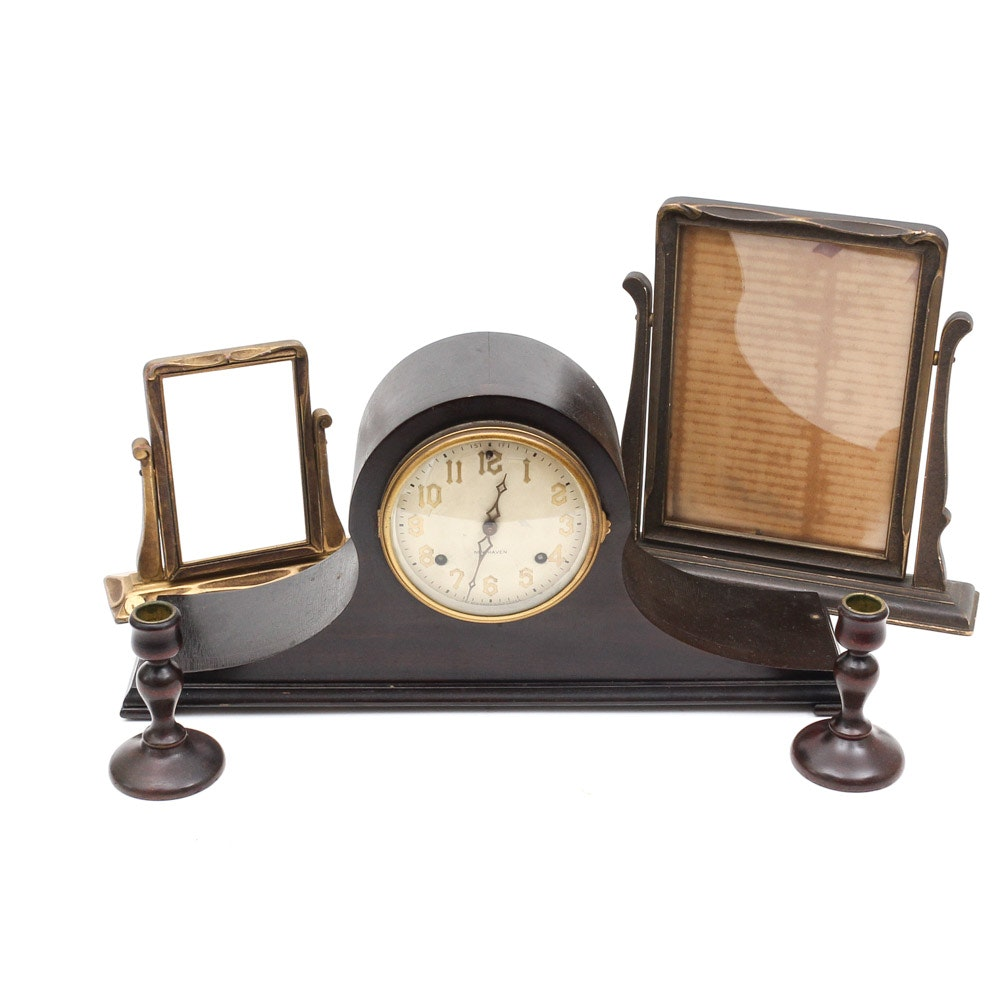 New Haven Mantle Clock and Decorative Items