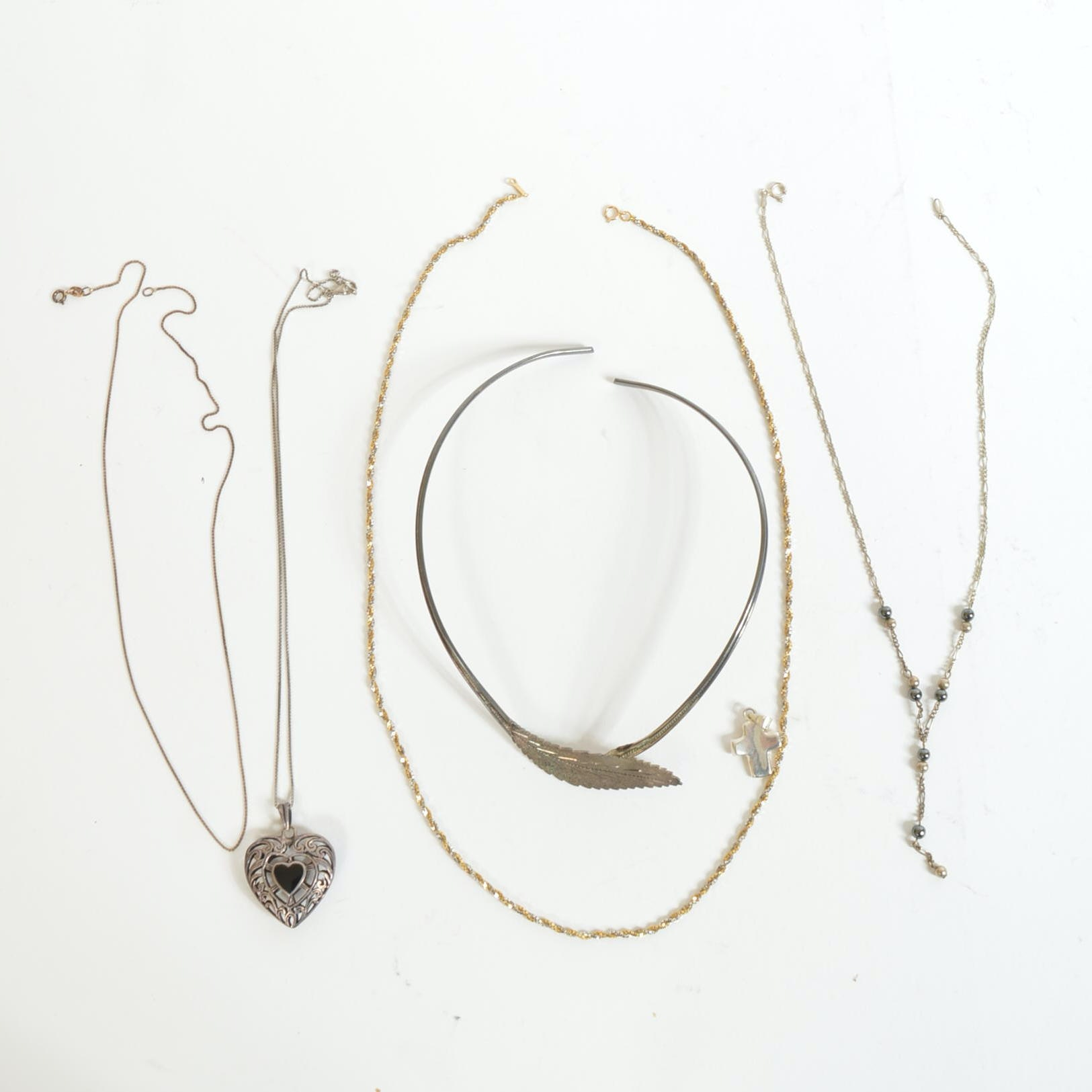 Assortment of Sterling Silver Necklaces