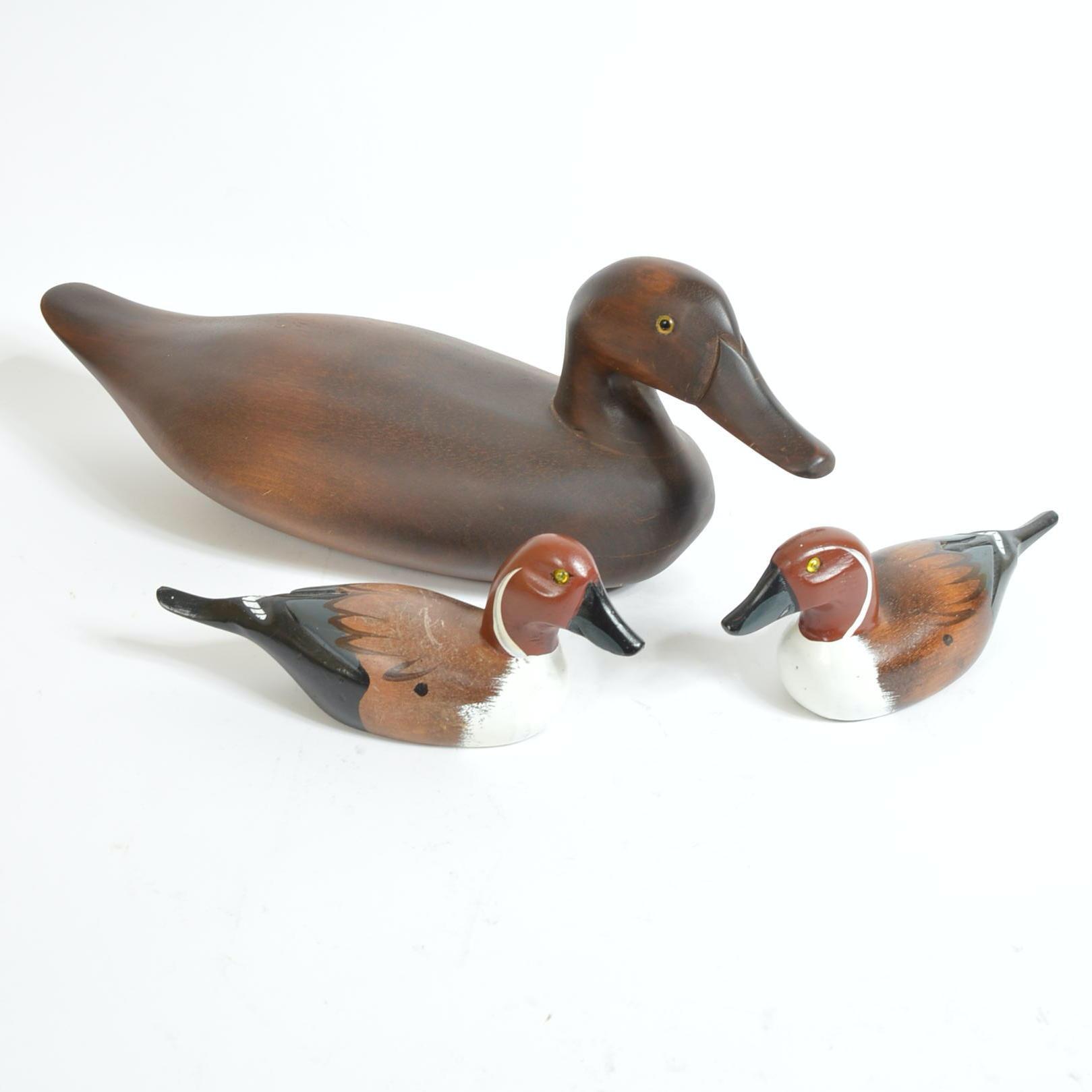 Wooden Duck Figurines