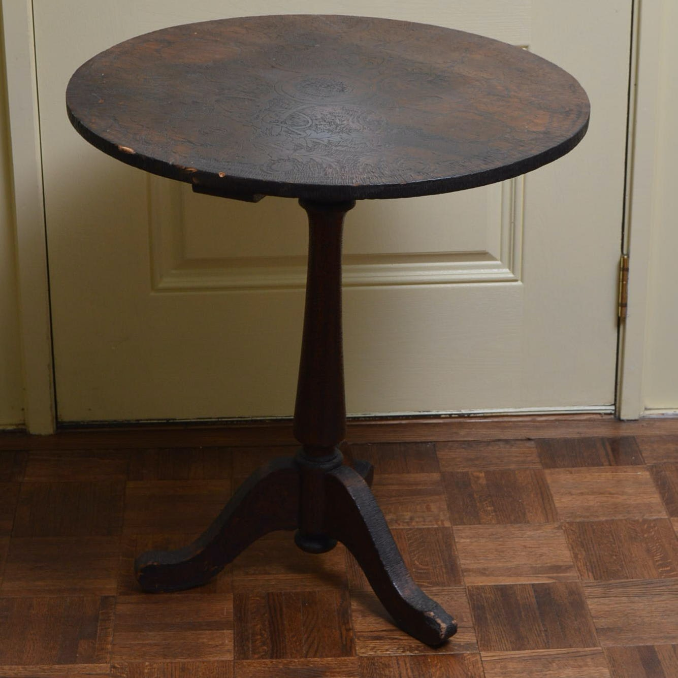 Antique Tilt-Top Side Table