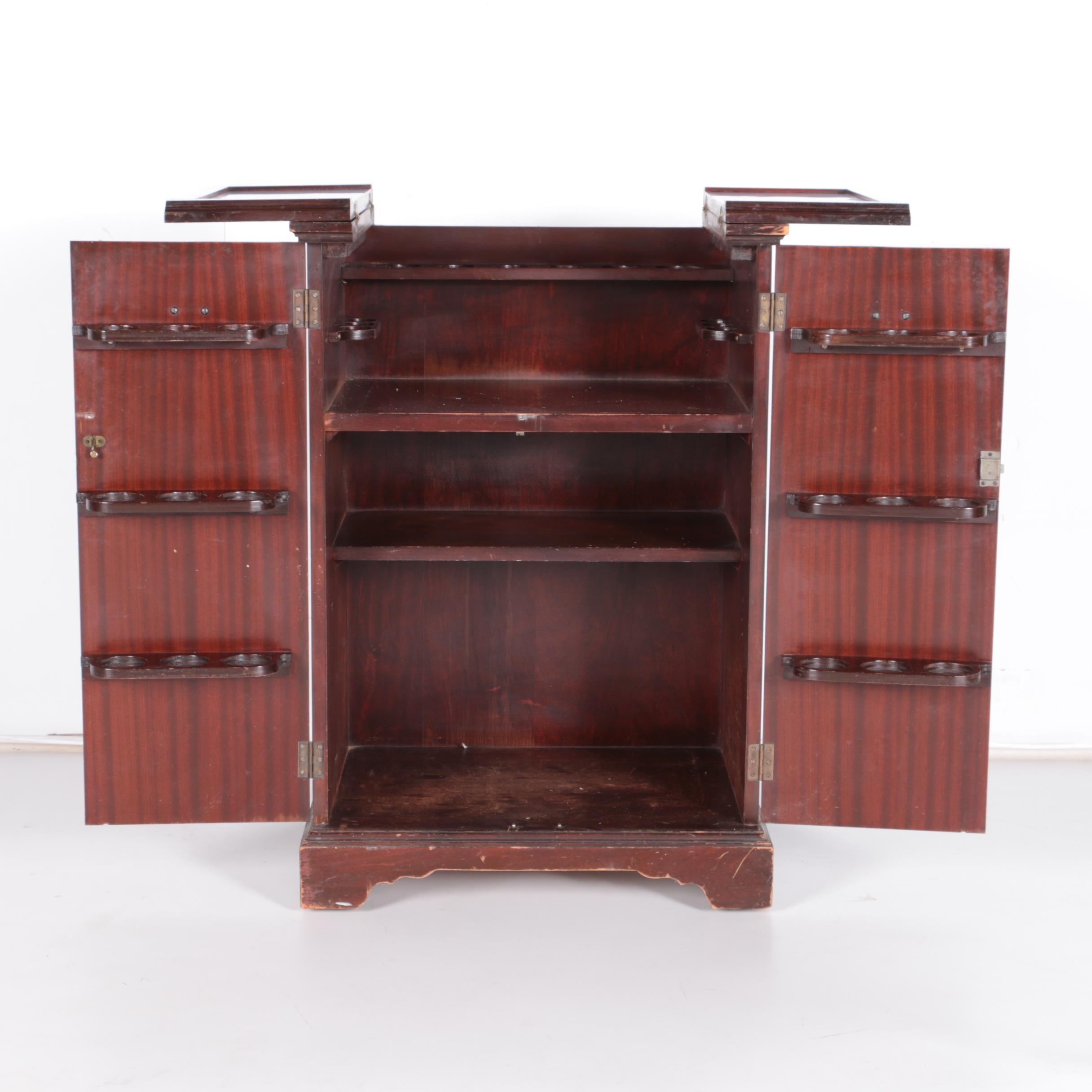 Vintage Flip-Top Server Cabinet by Bar Mart