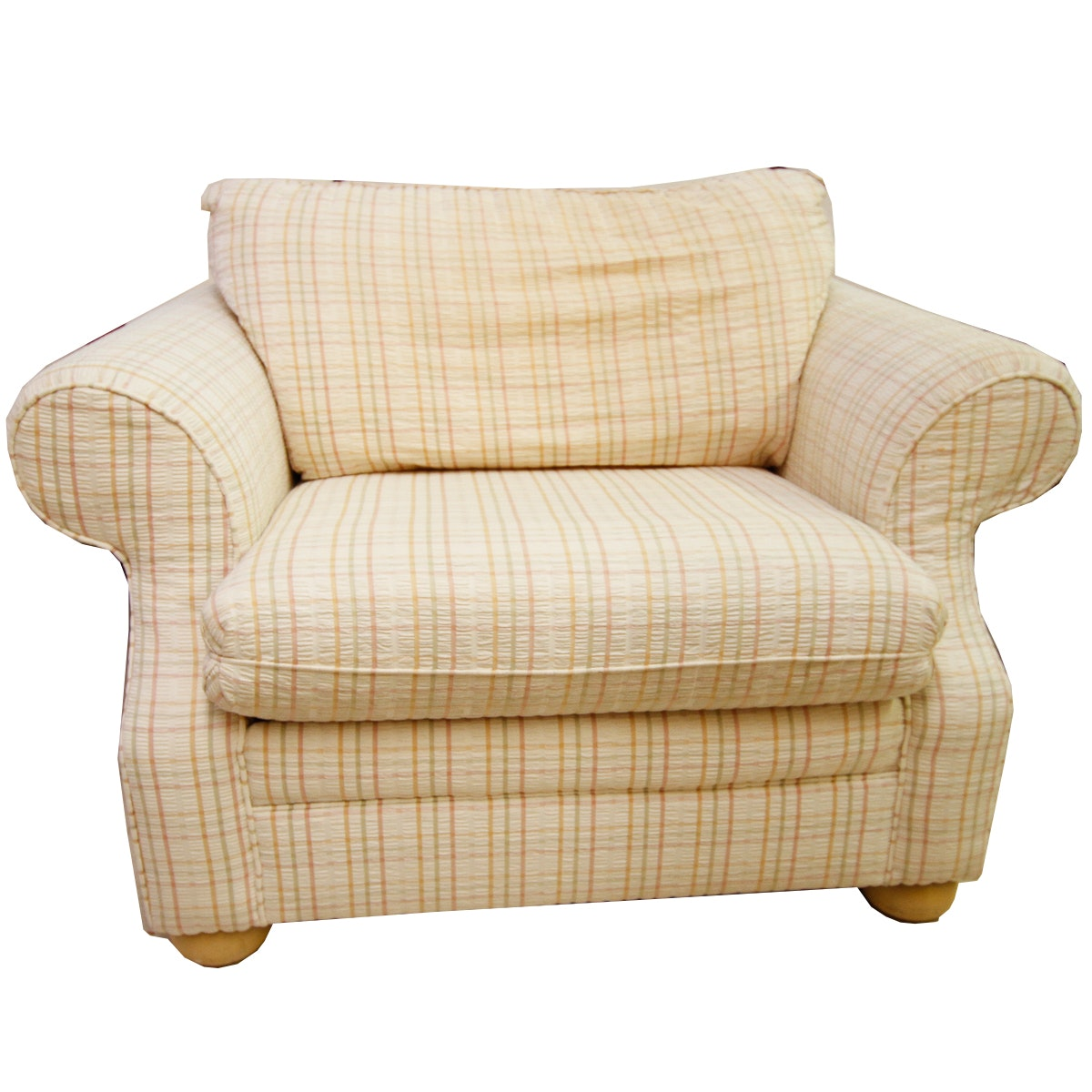 Cream Plaid Club Chair By Flexsteel ...