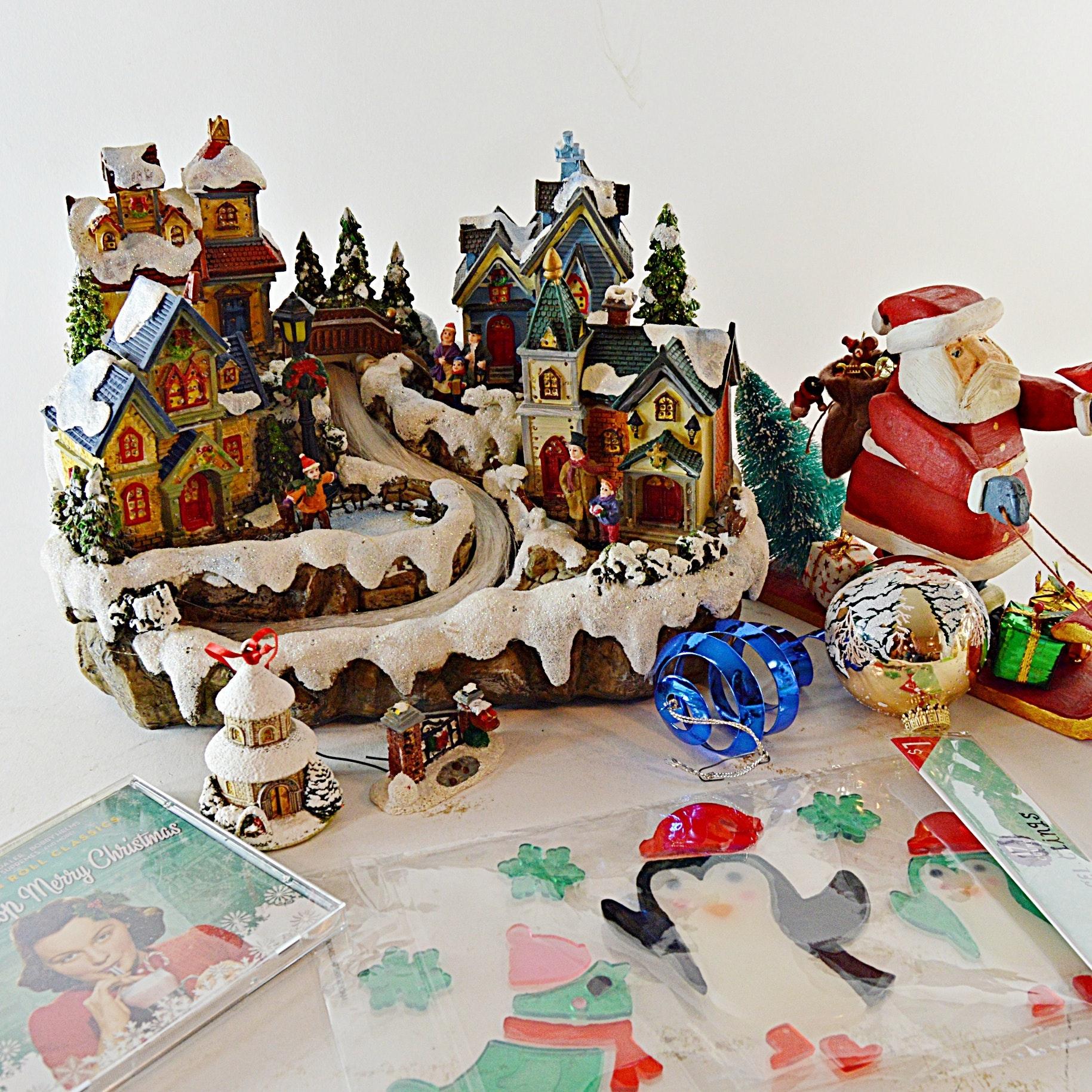 Lighted Christmas Village, Other Christmas Decor