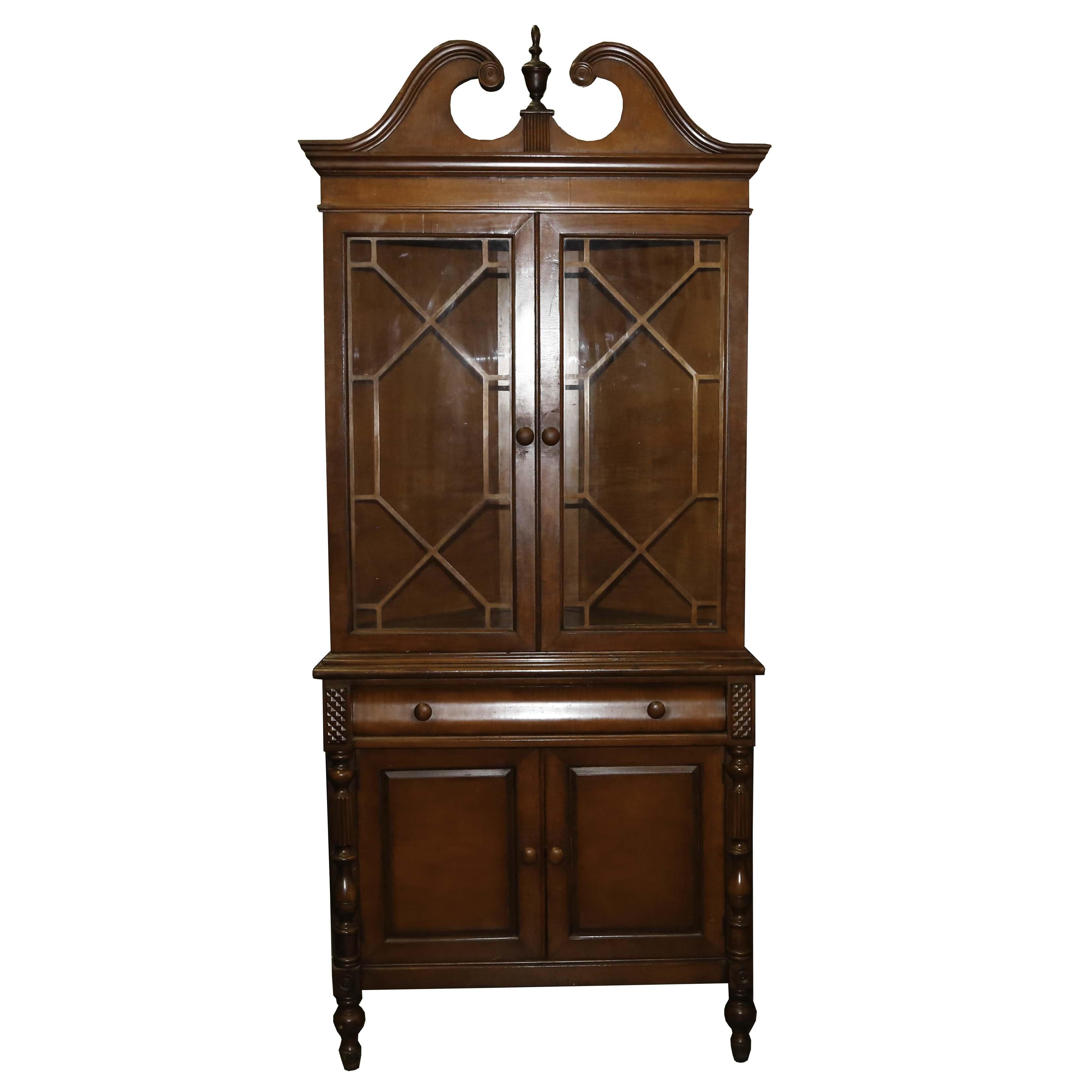 Vintage Federal Style Corner Cabinet