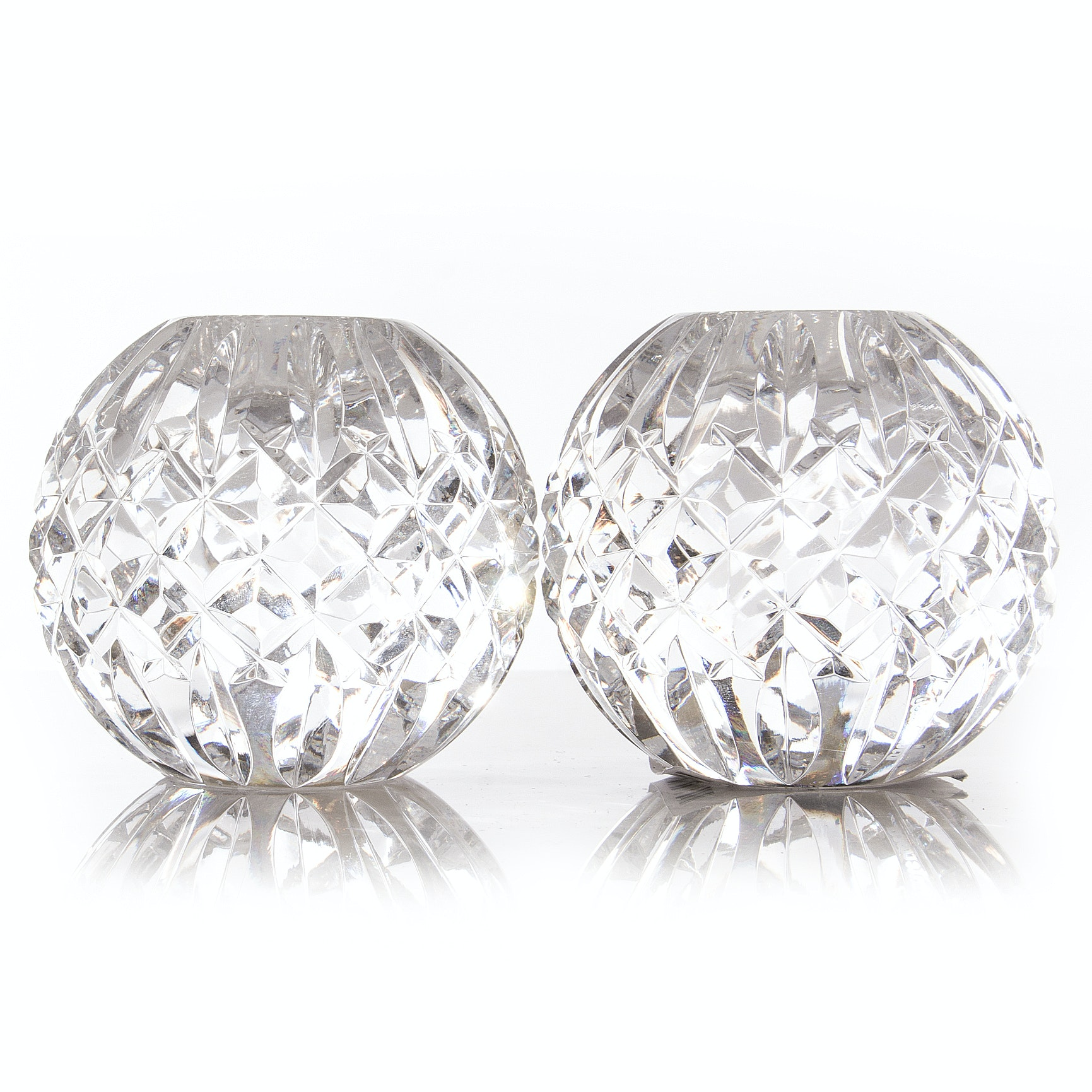 """Waterford Crystal """"Alana"""" Taper Candle Holders"""