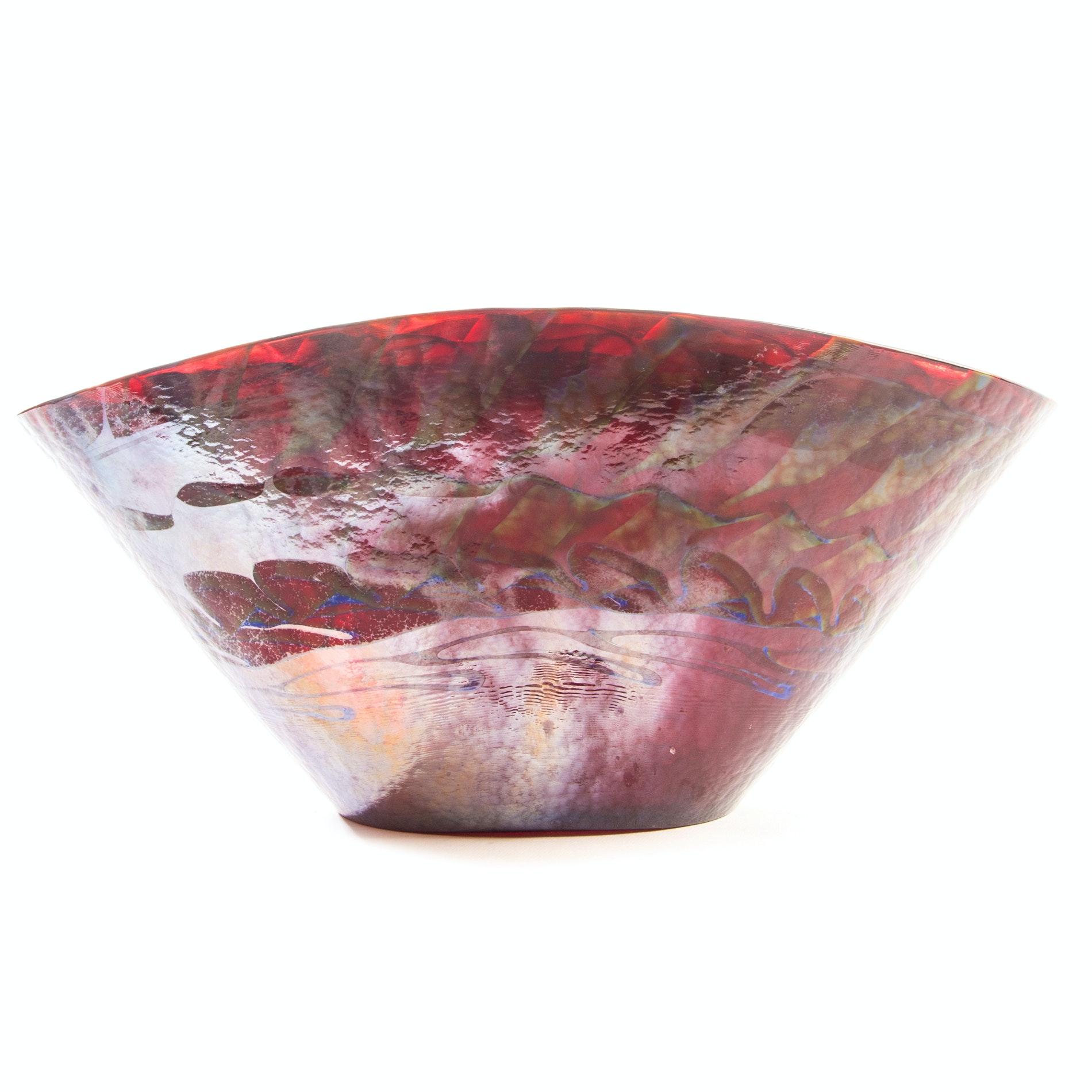 Murano Style Art Glass Bowl