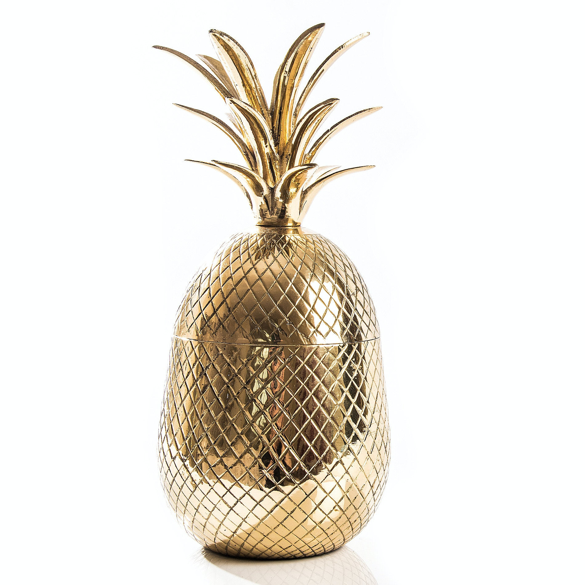 Vintage Brass Pineapple Canister