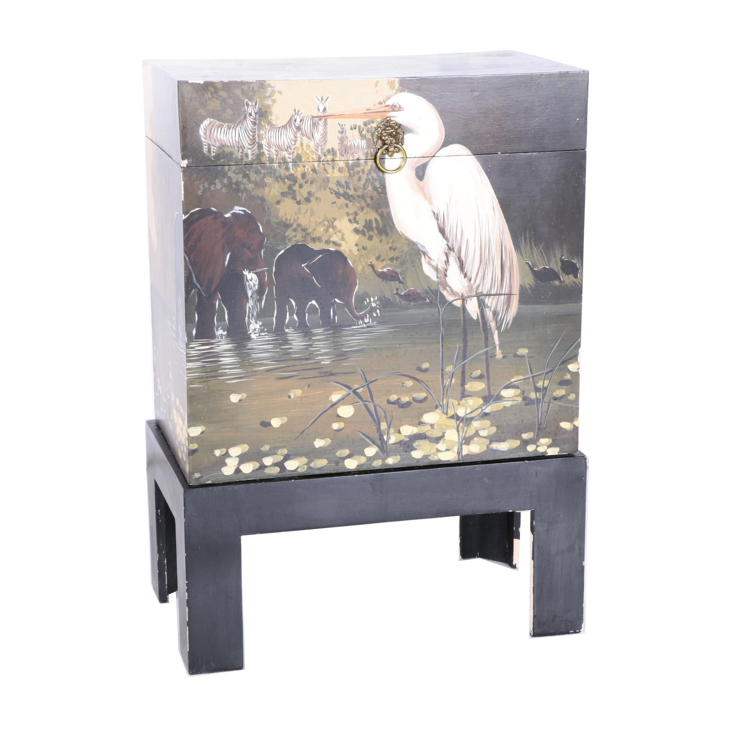 Animal-Themed Storage Chest on Stand