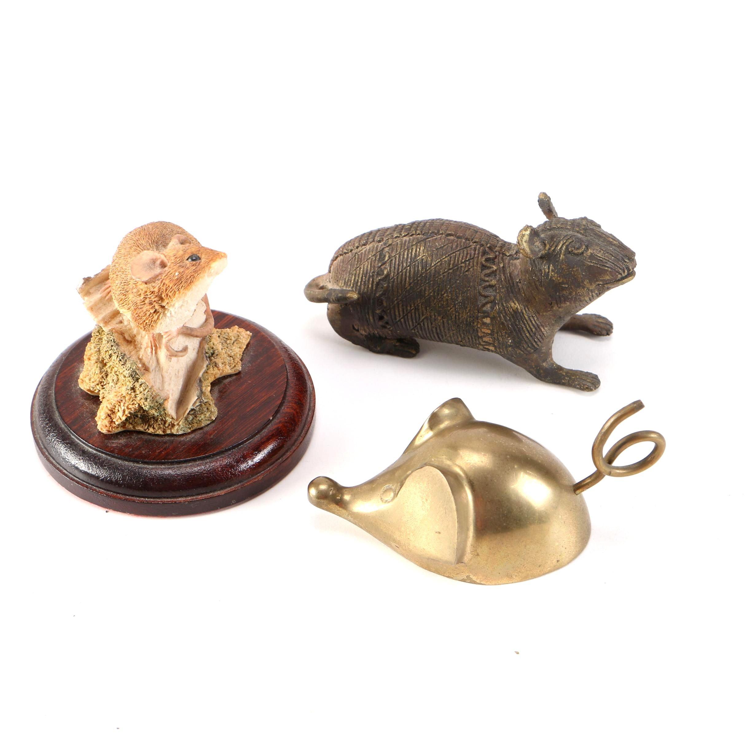 Three Mouse Figurines