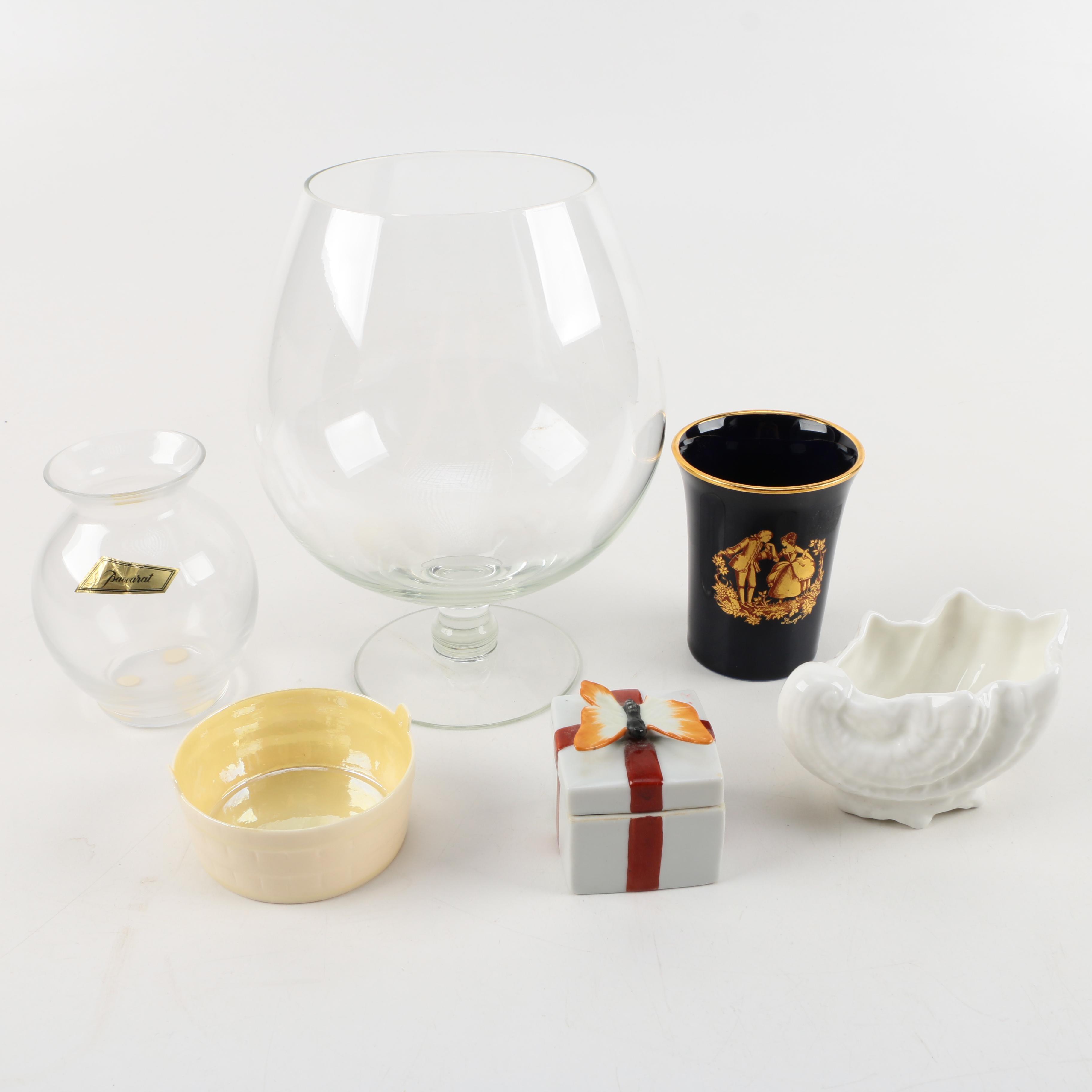 Limoges Castel Porcelain Cup and Other Decorative Homewares