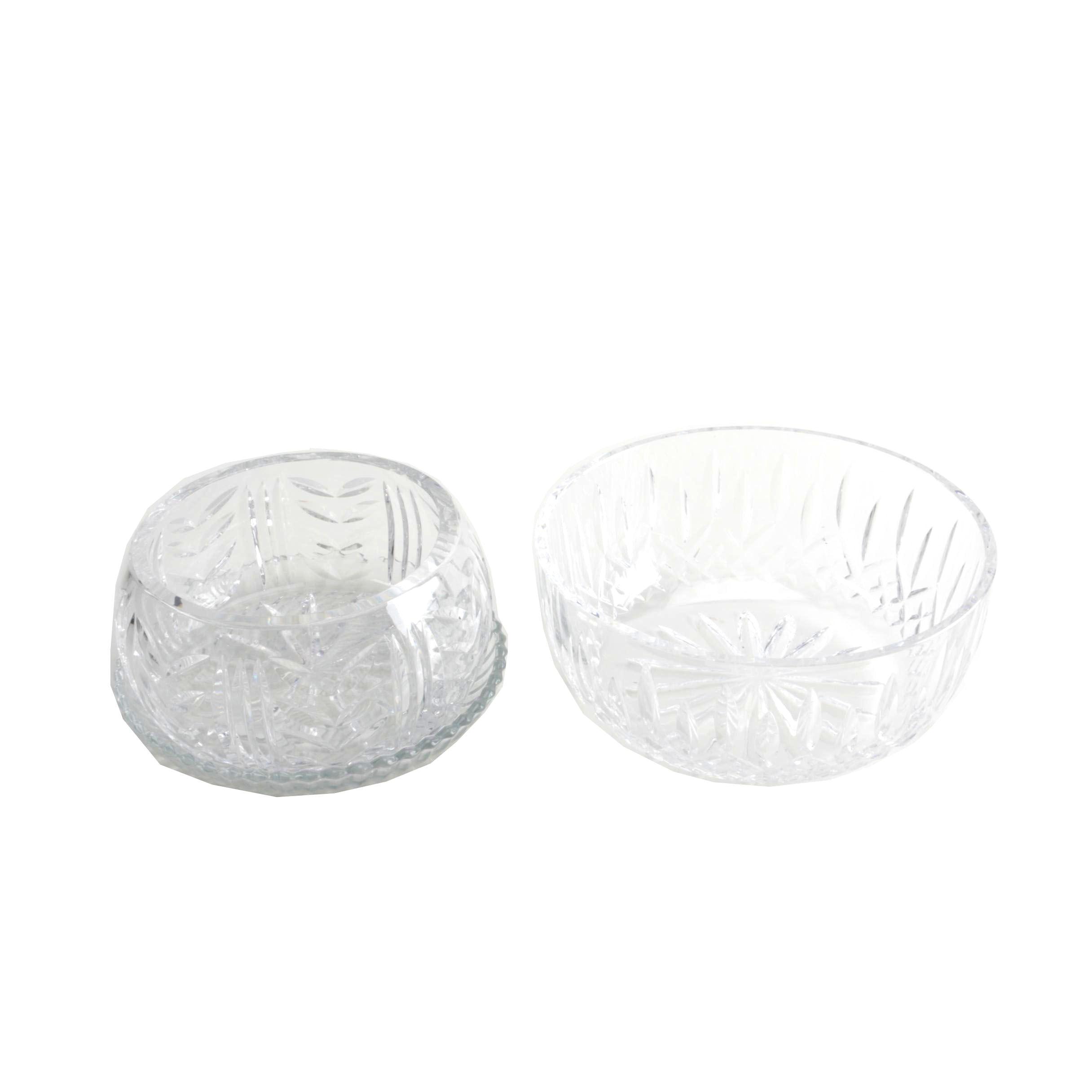 "Waterford Crystal ""Glencar"" and ""Lismore"" Crystal Bowls"
