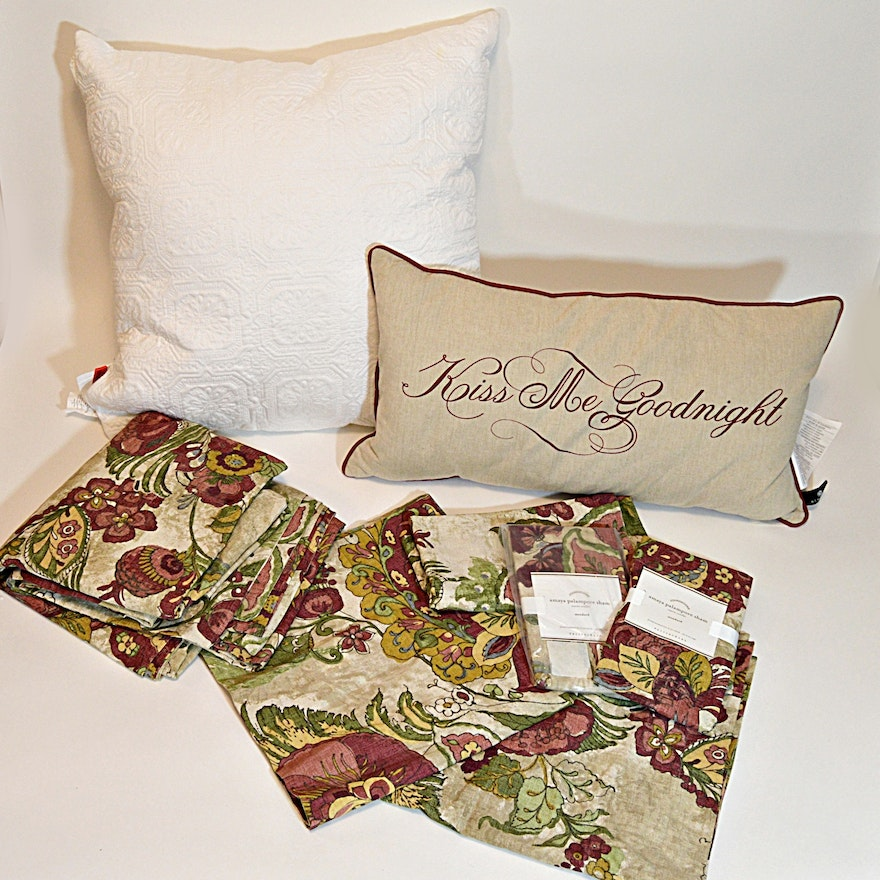 Pottery Barn Amaya Palampore Bed Ensemble Accent Pillows EBTH Amazing Pottery Barn Decorative Pillows On Sale