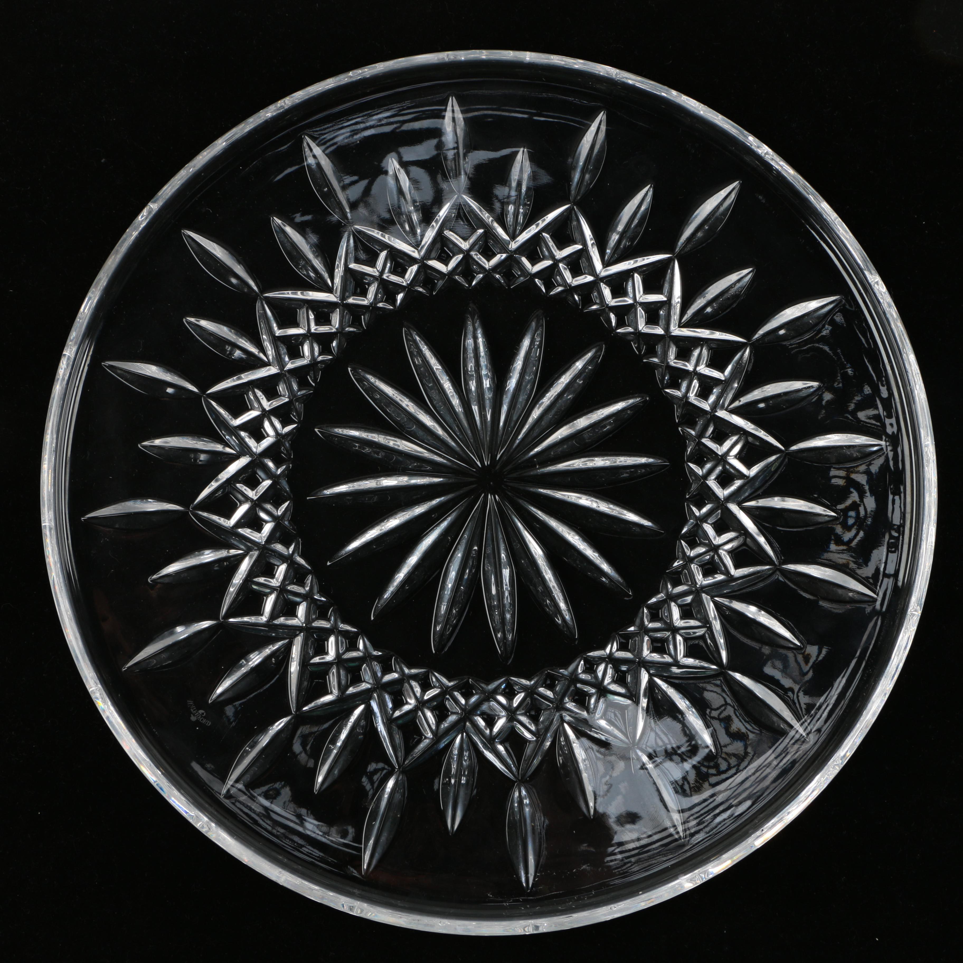"Waterford Crystal ""Lismore"" Cake Plate"