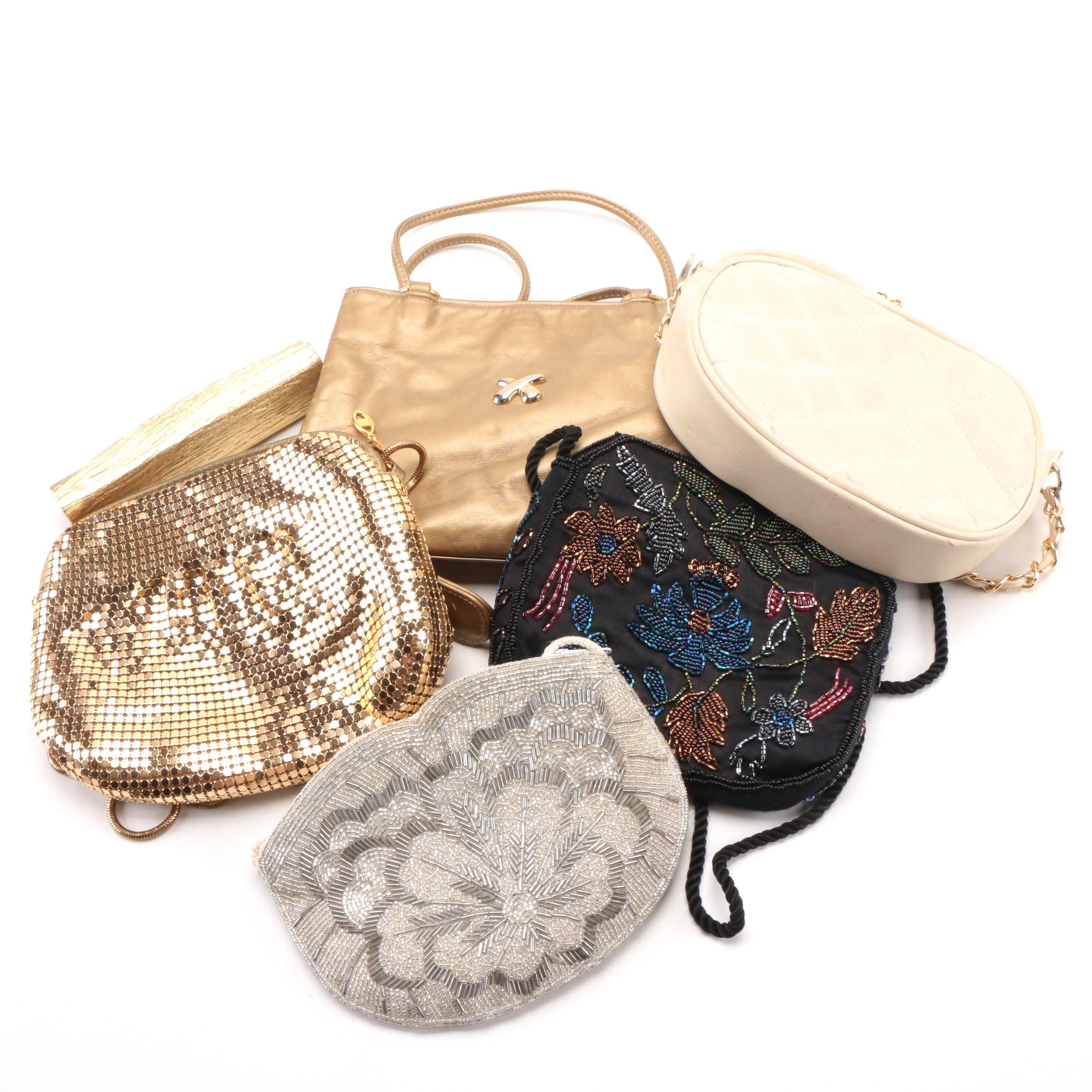 Handbags and Shoulder Bags Including Metal Mesh
