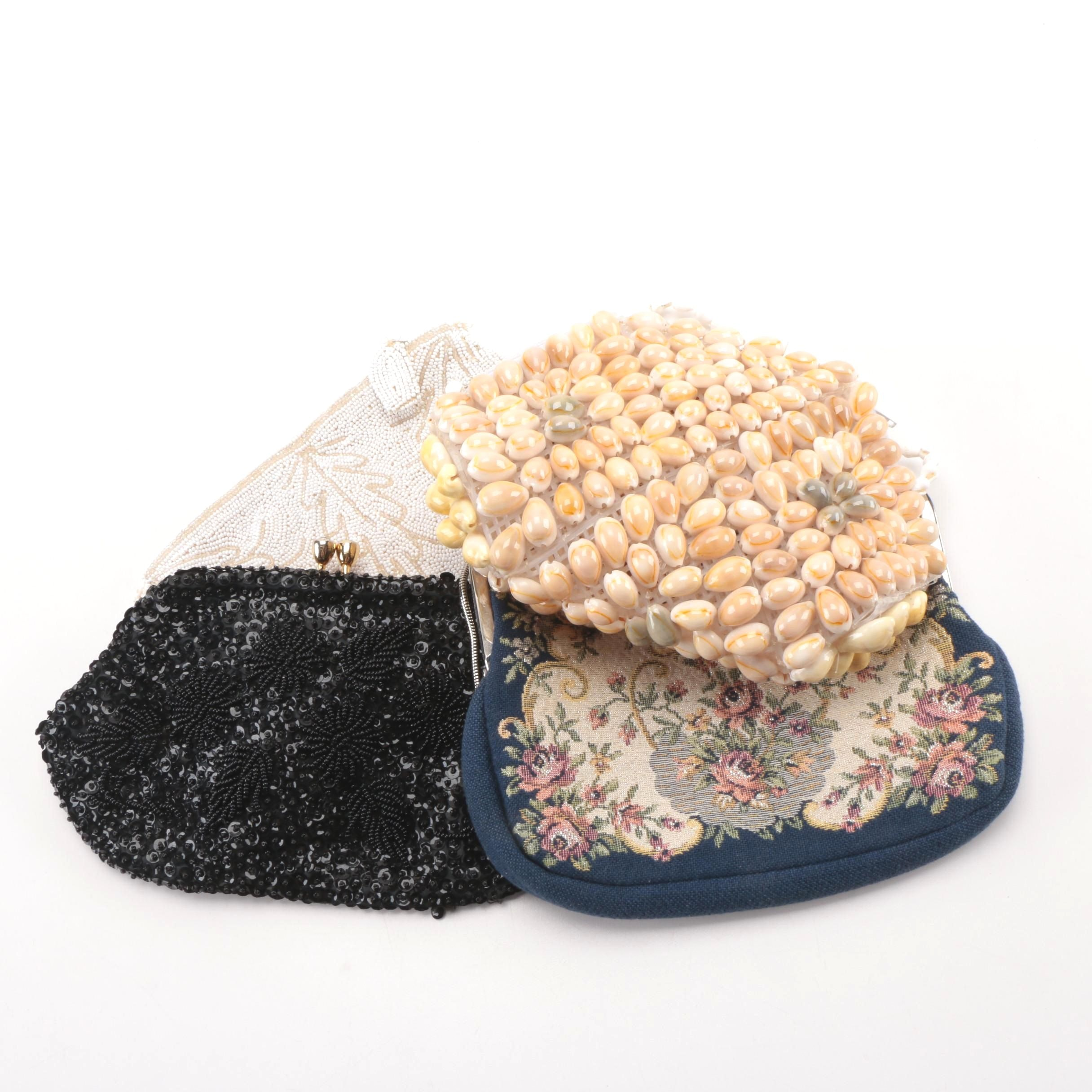 Vintage Clutches and Handbags Including Needlepoint