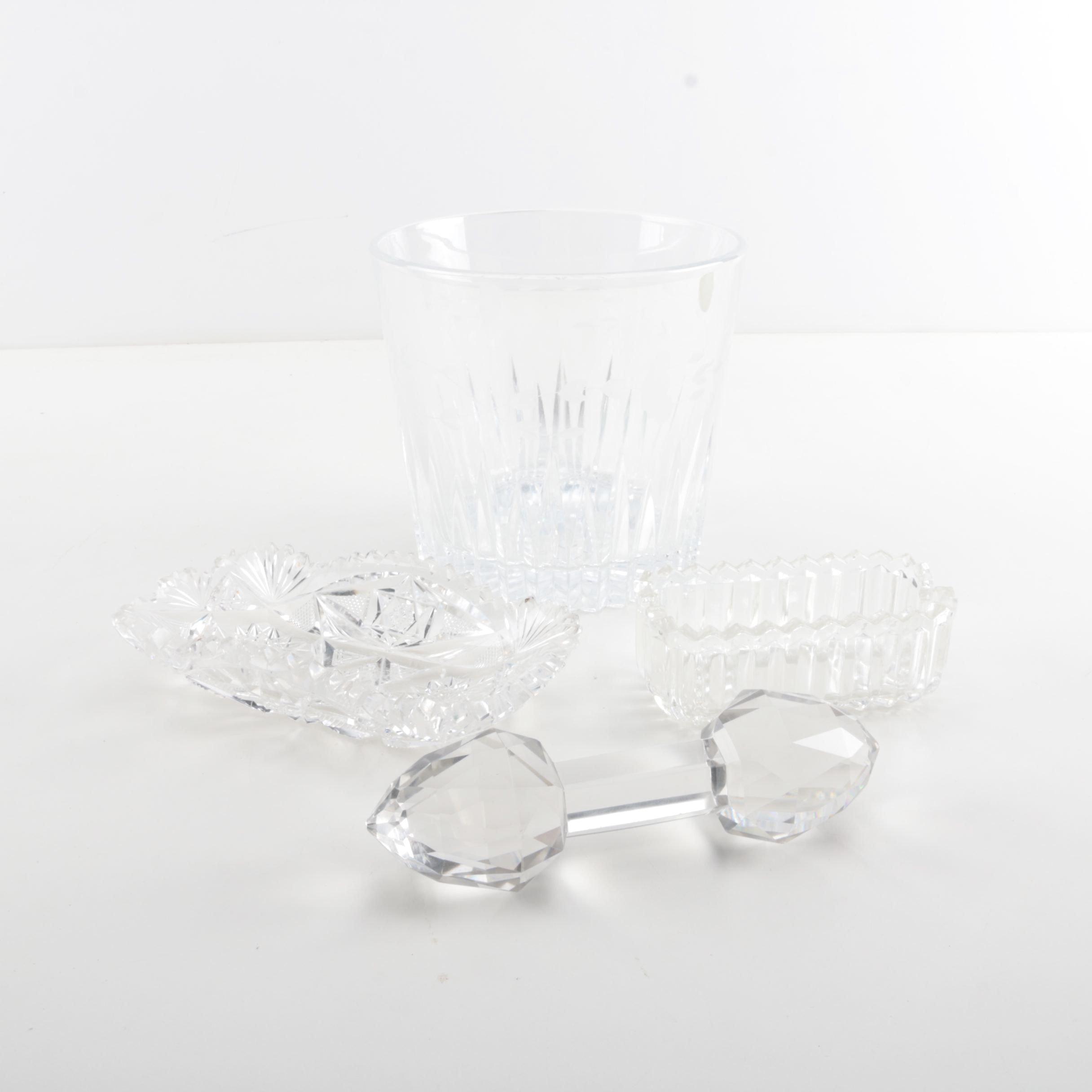 Crystal Ice Bucket and Decor